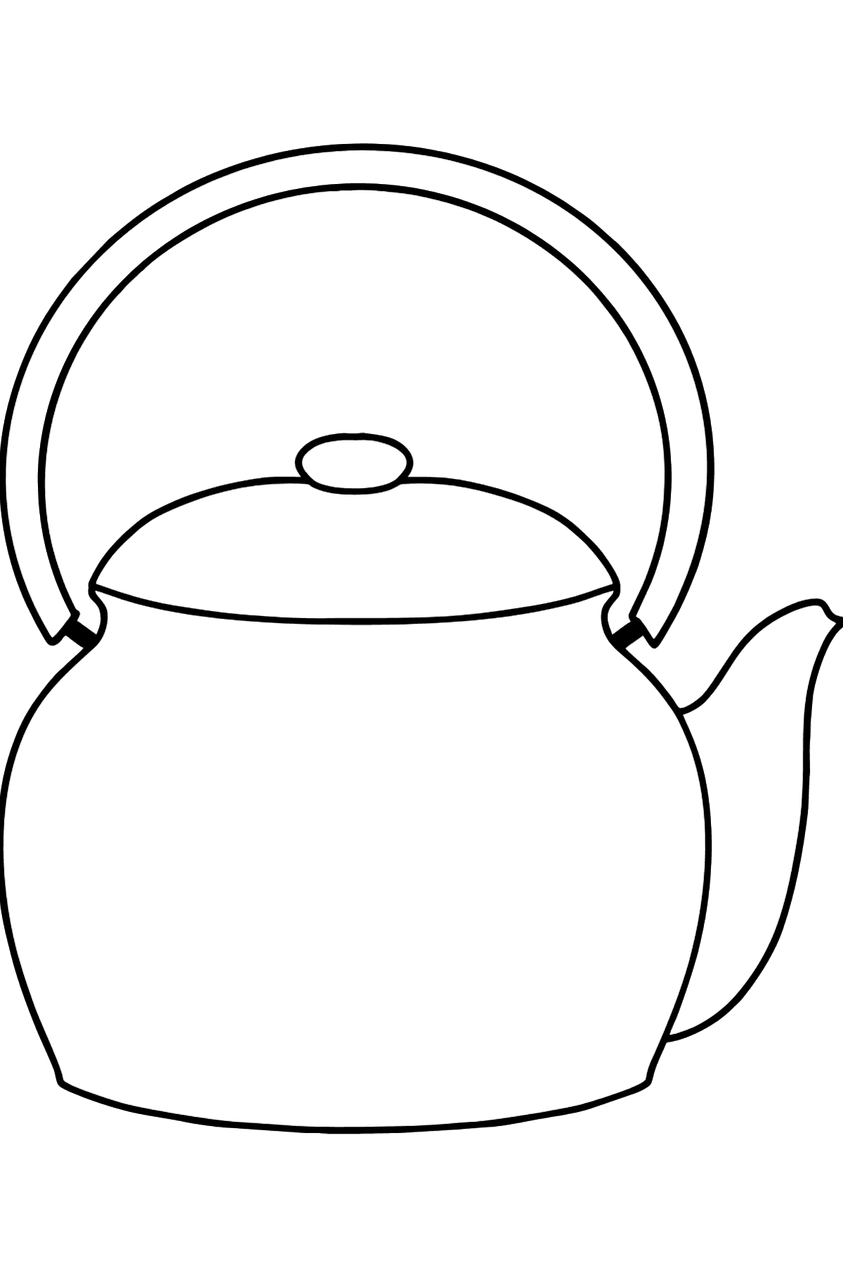 Teapot coloring page - Coloring Pages for Kids