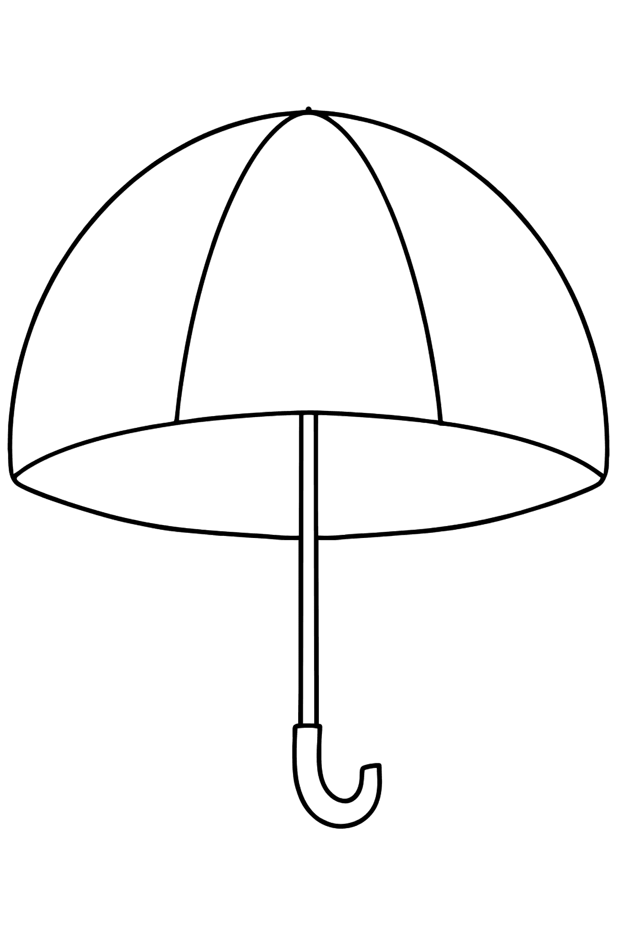 Umbrella coloring page - Coloring Pages for Kids