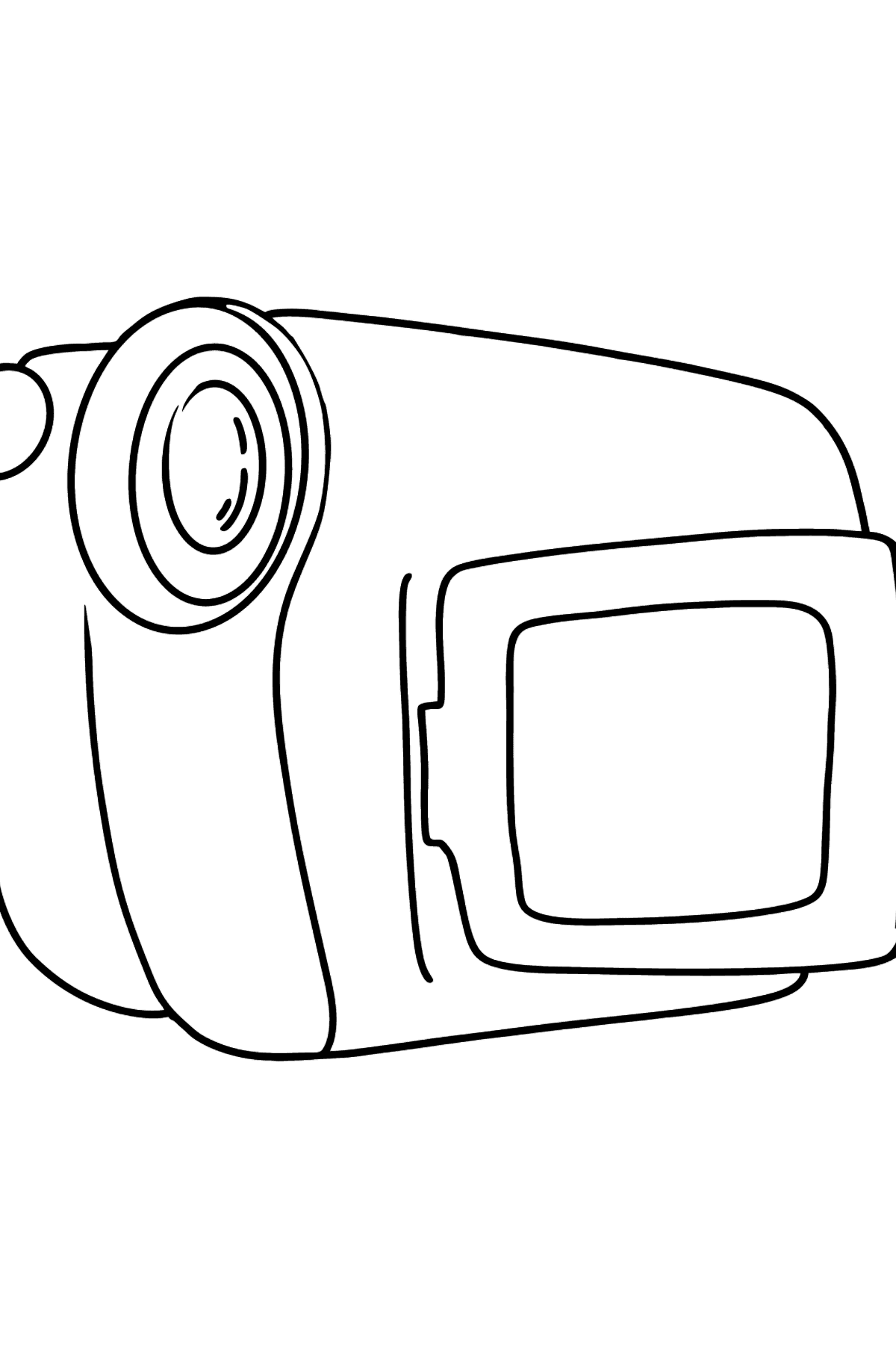 Video camera coloring page - Coloring Pages for Kids