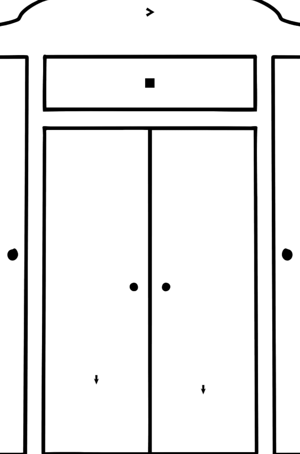 Wardrobe coloring page - Coloring by Symbols for Kids