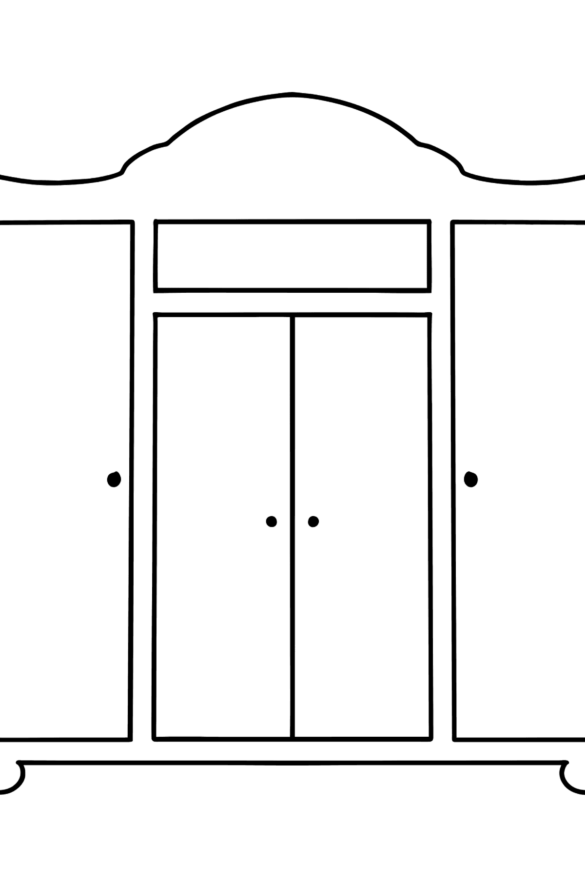 Wardrobe coloring page - Coloring Pages for Kids