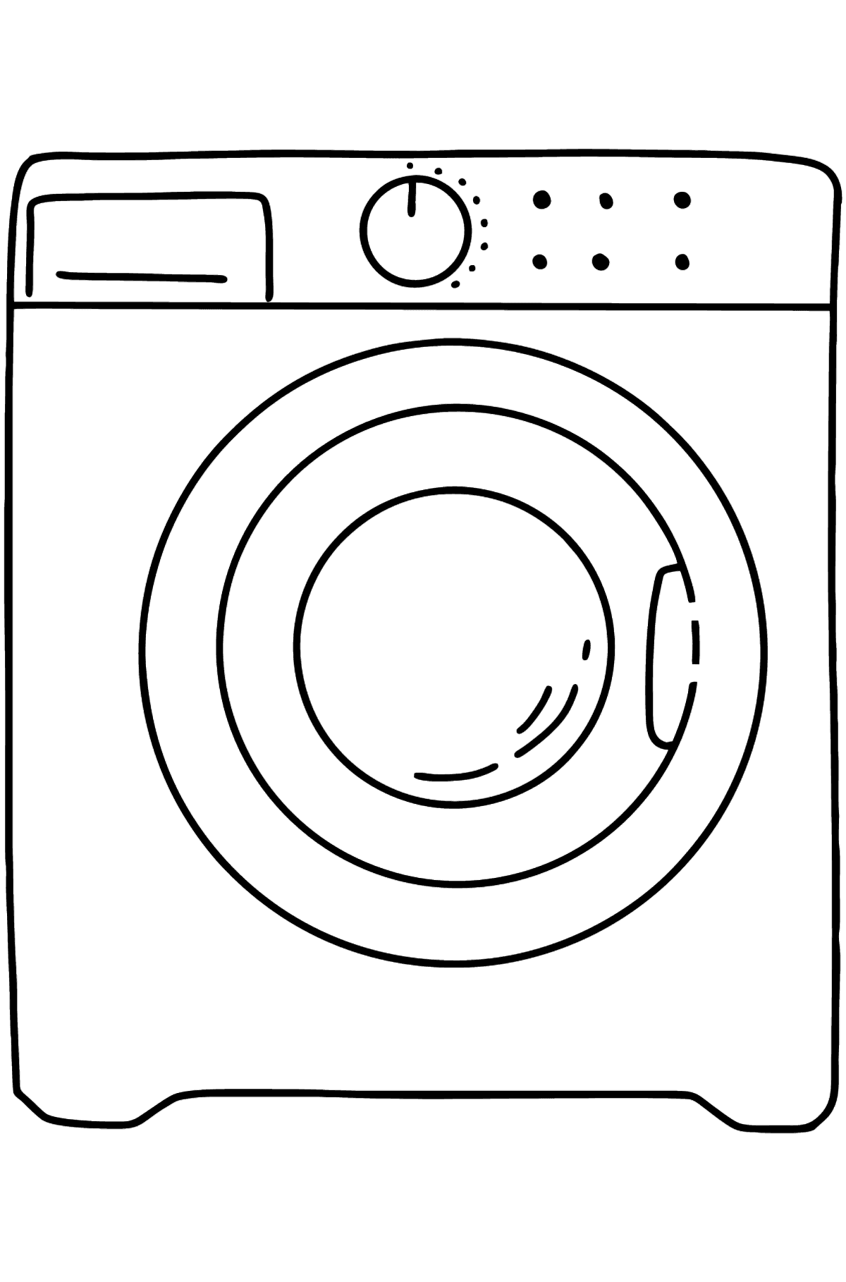 Dishwashe coloring page - Coloring Pages for Kids