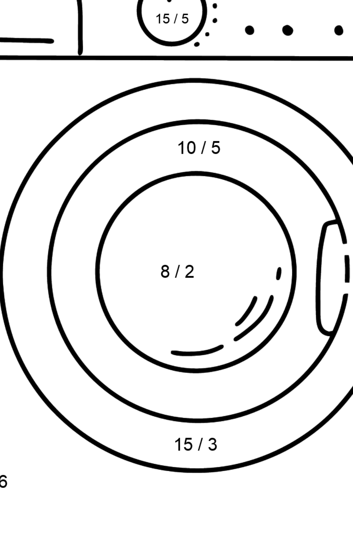 Dishwashe coloring page - Math Coloring - Division for Kids
