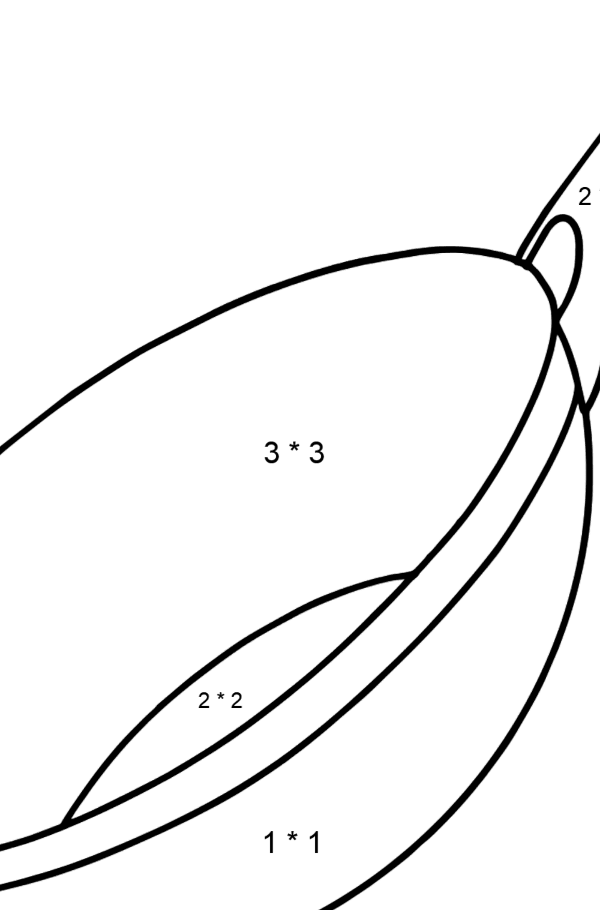 Wok pan coloring page - Math Coloring - Multiplication for Kids