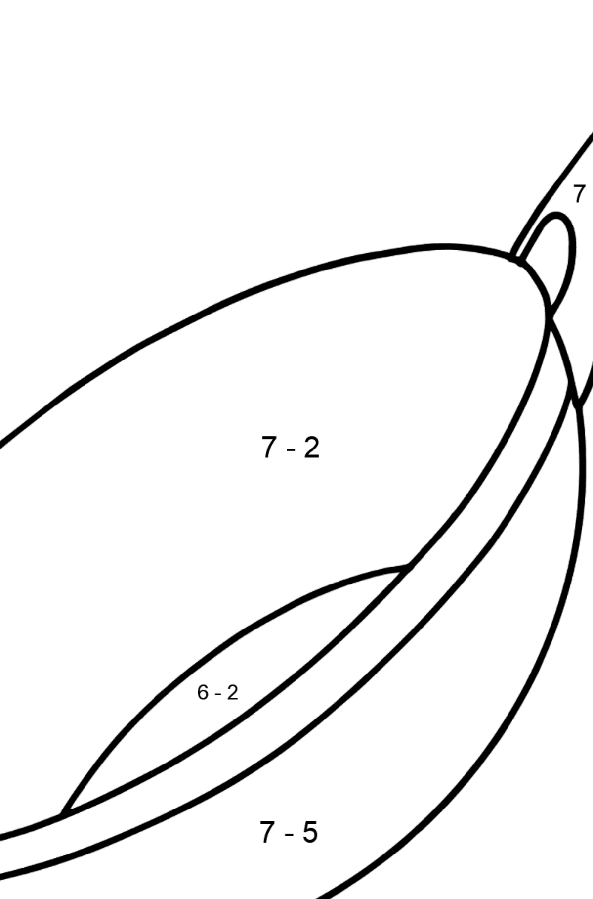 Wok pan coloring page - Math Coloring - Subtraction for Kids