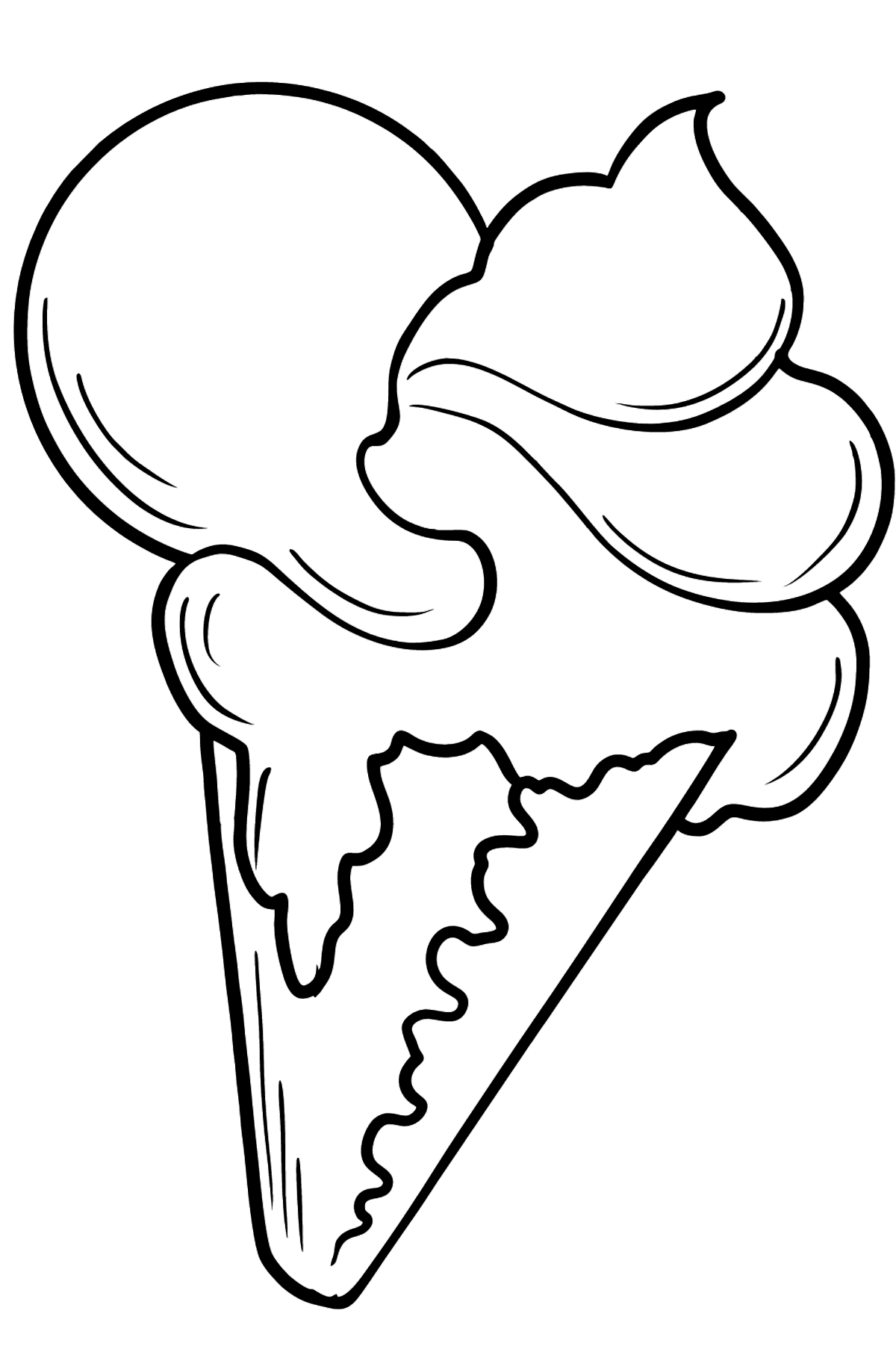 Raspberry and Banana Horn coloring page - Coloring Pages for Kids