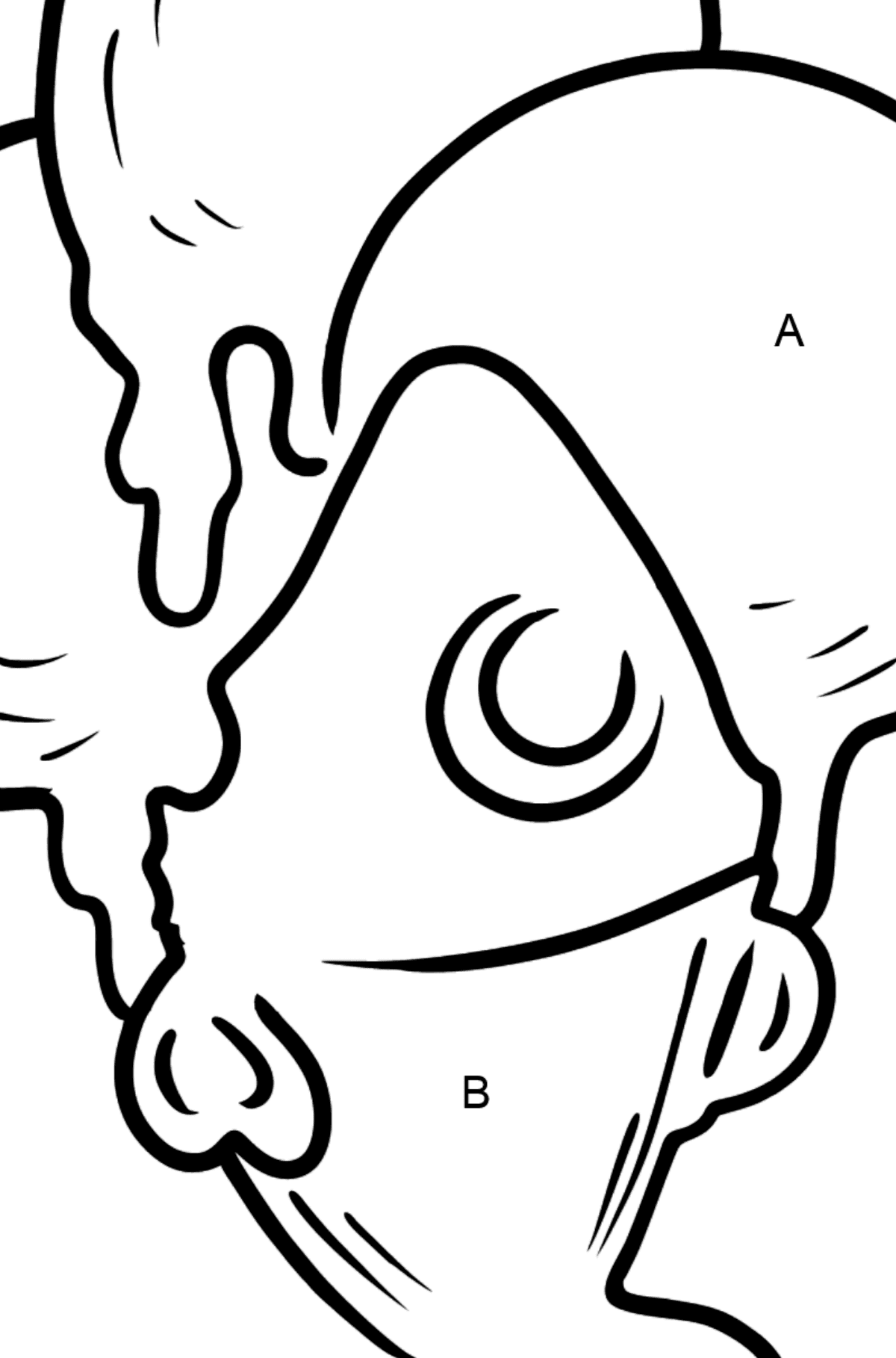 Bubble Gum Ice Cream coloring page - Coloring by Letters for Kids