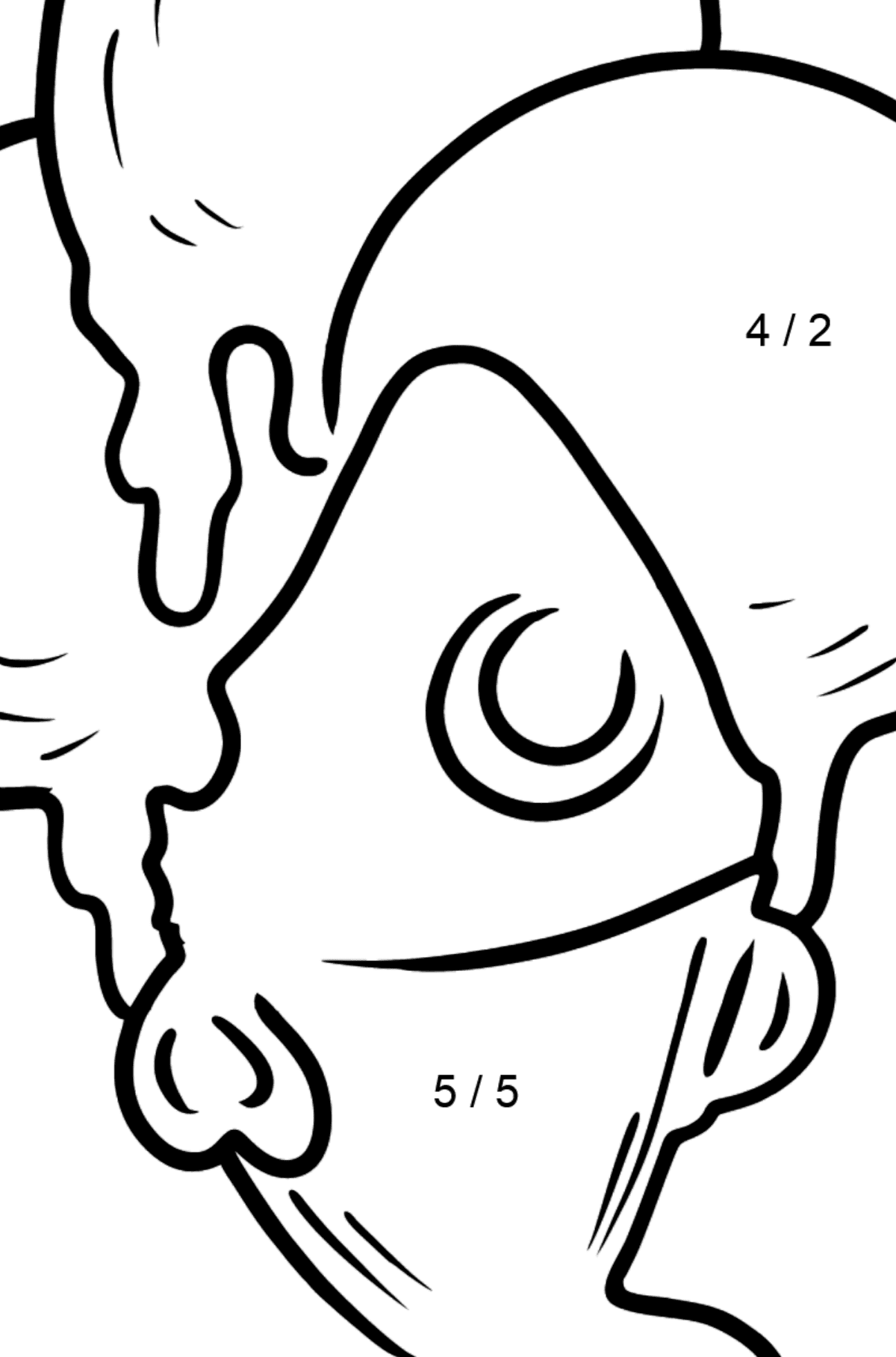 Bubble Gum Ice Cream coloring page - Math Coloring - Division for Kids