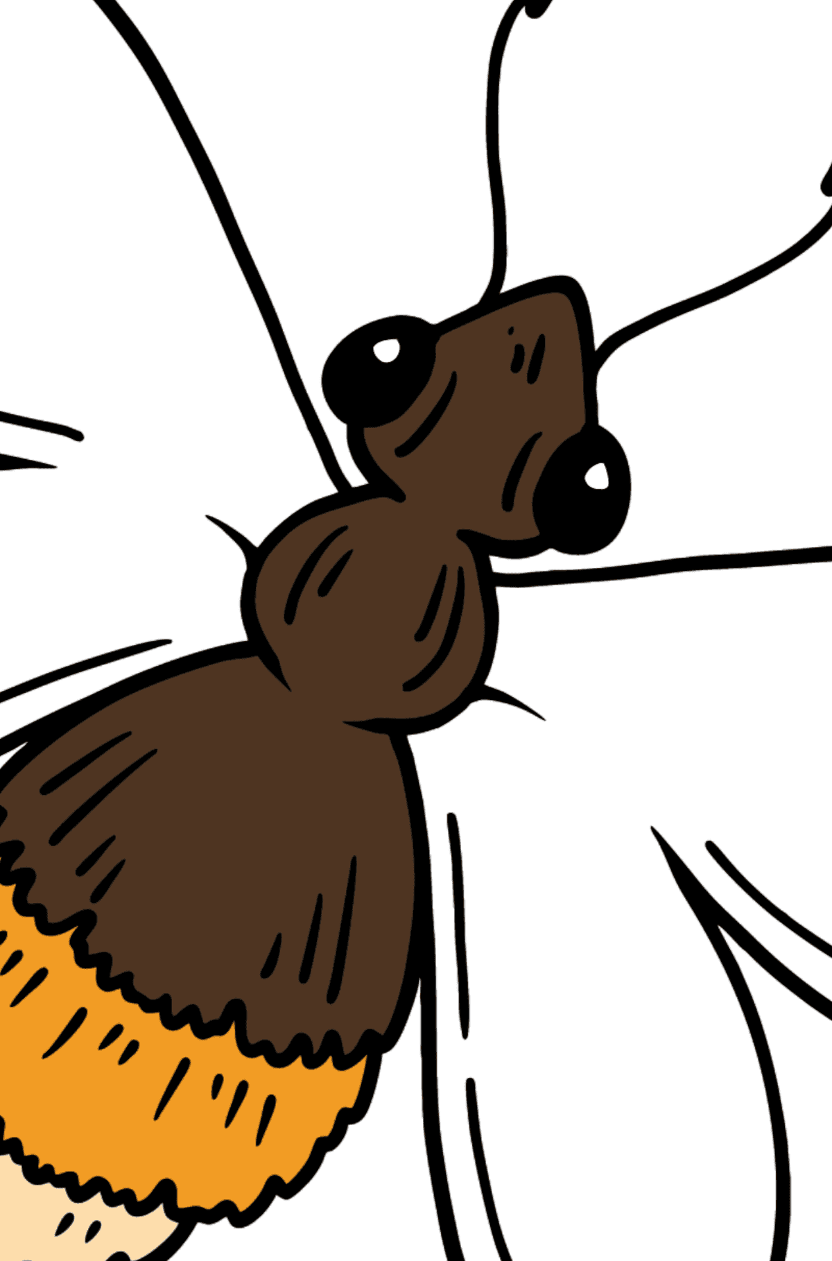 Bee coloring page - Coloring by Geometric Shapes for Kids