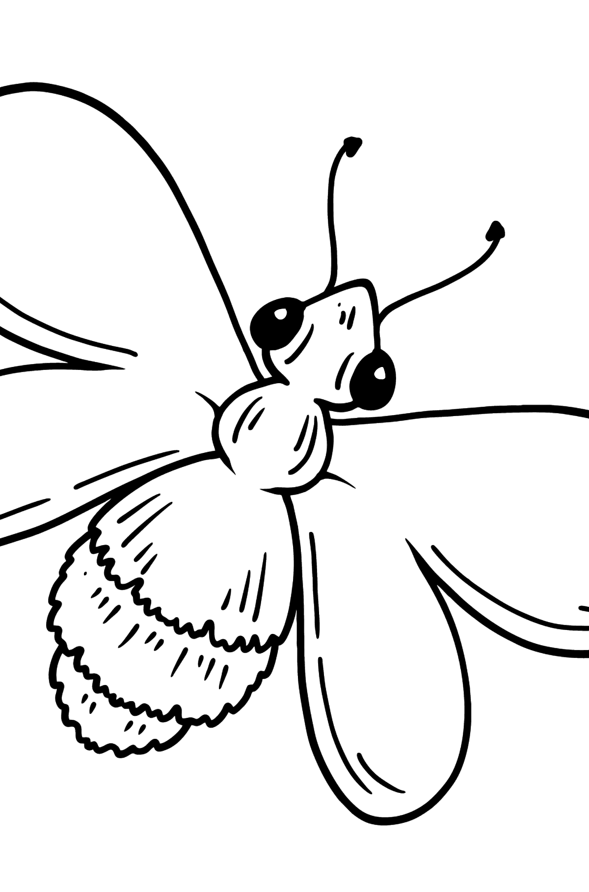Bee coloring page - Coloring Pages for Kids
