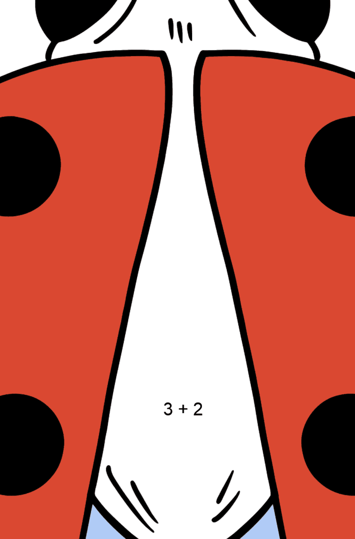 Ladybug coloring page - Math Coloring - Addition for Kids