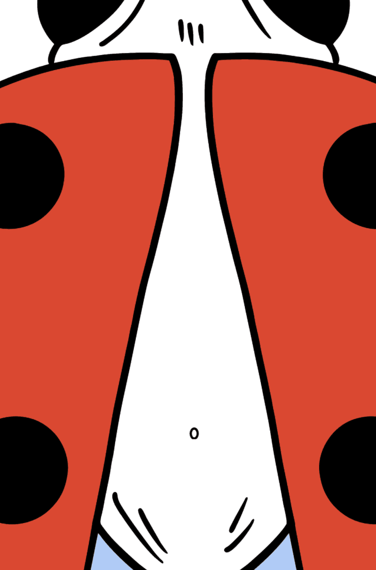Ladybug coloring page - Coloring by Geometric Shapes for Kids