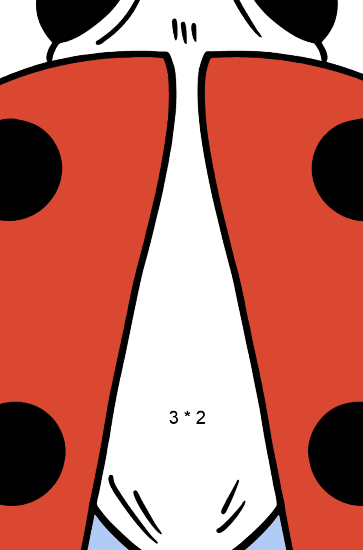 Ladybug coloring page - Math Coloring - Multiplication for Kids