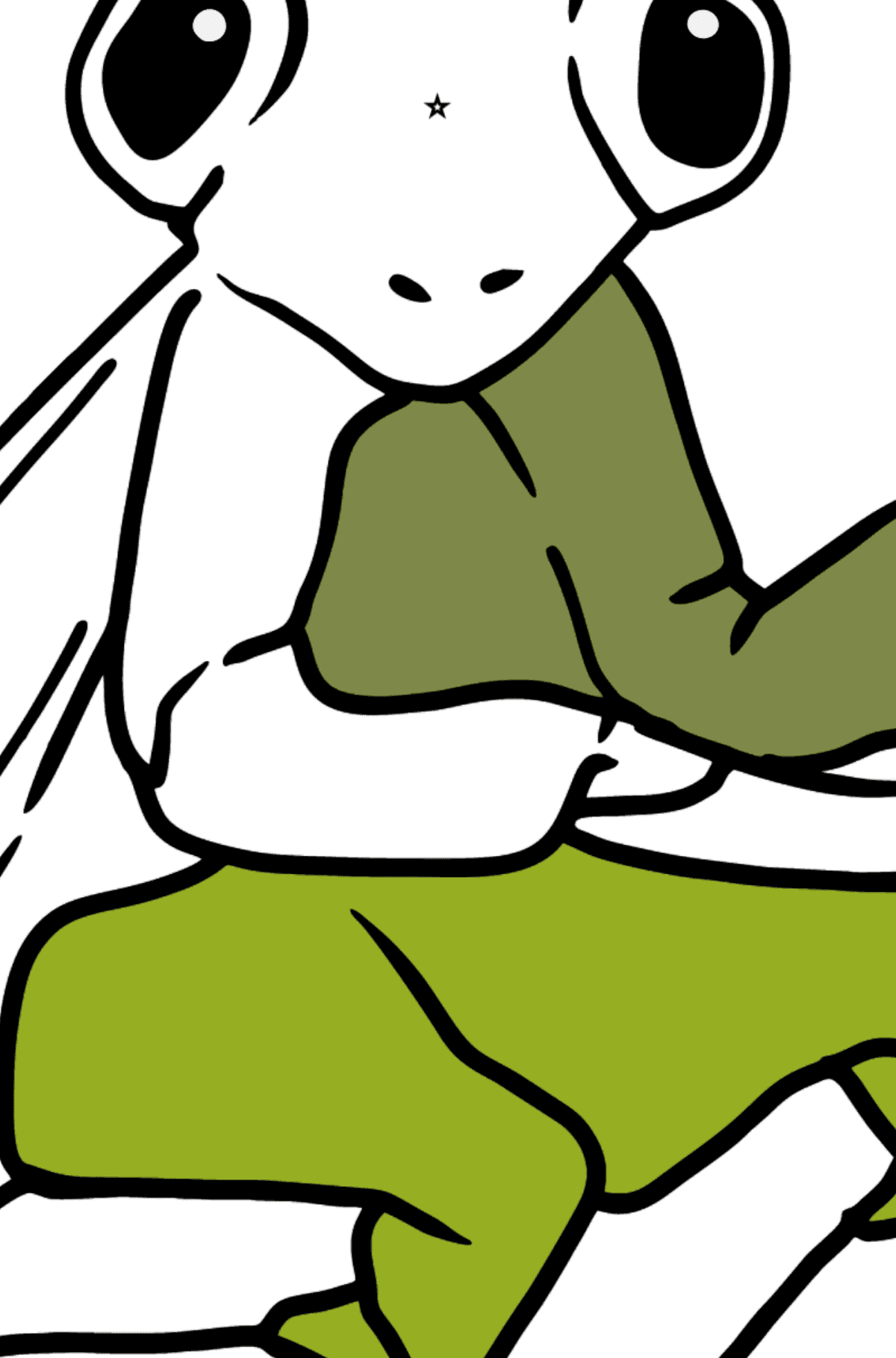Mantis coloring page - Coloring by Geometric Shapes for Kids
