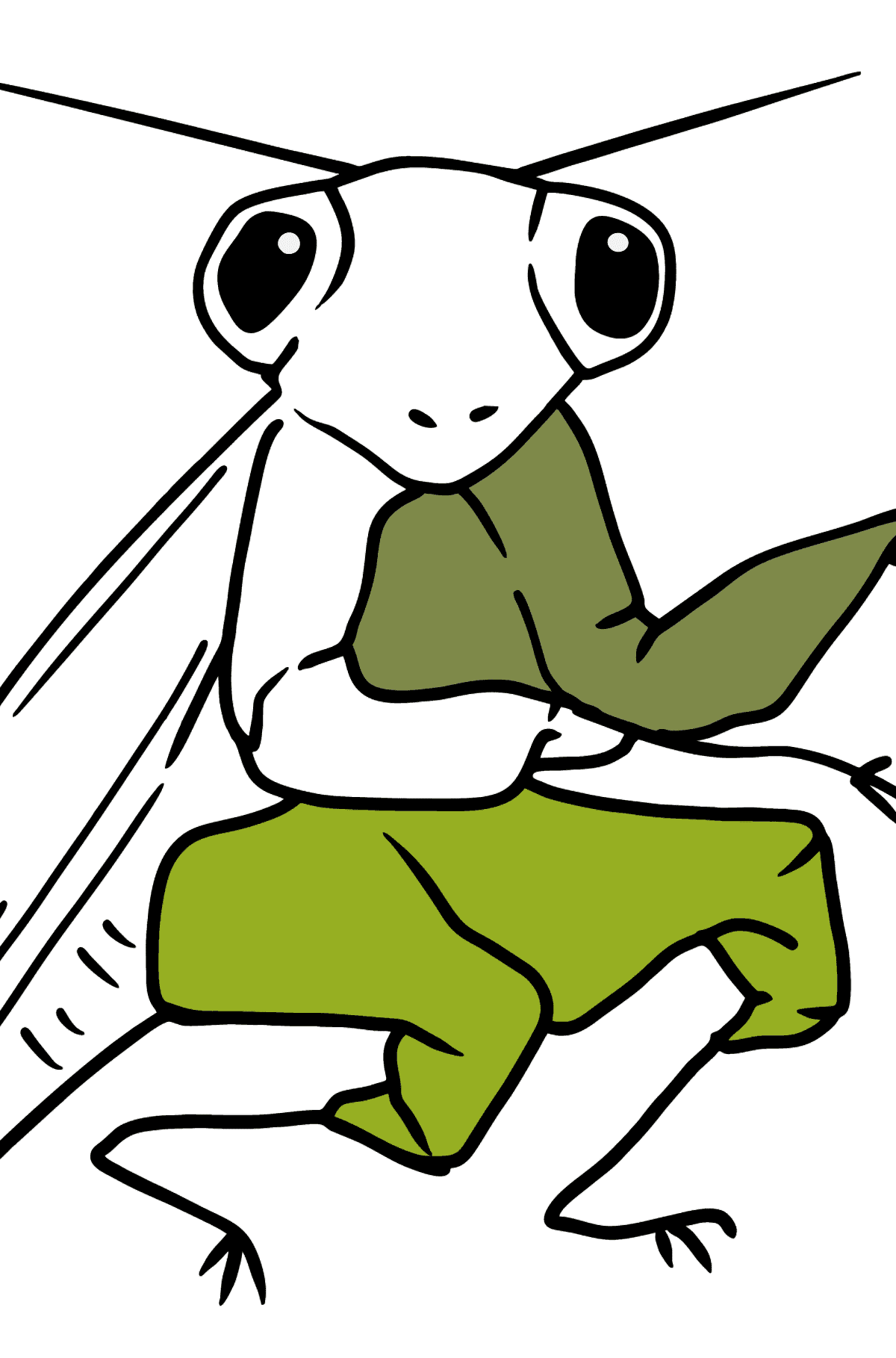Mantis coloring page - Coloring Pages for Kids