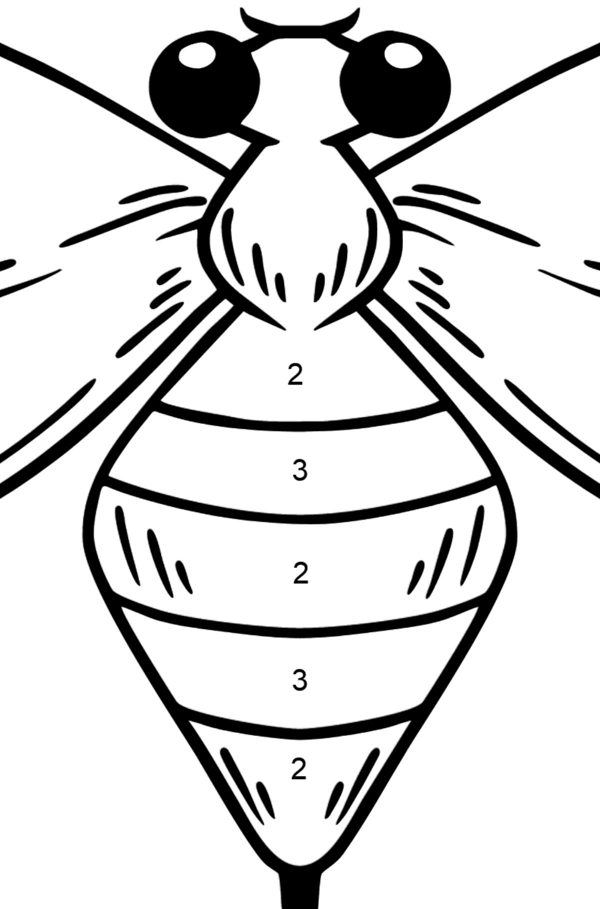 Dibujo de avispa para colorear - Colorear por Números para Niños