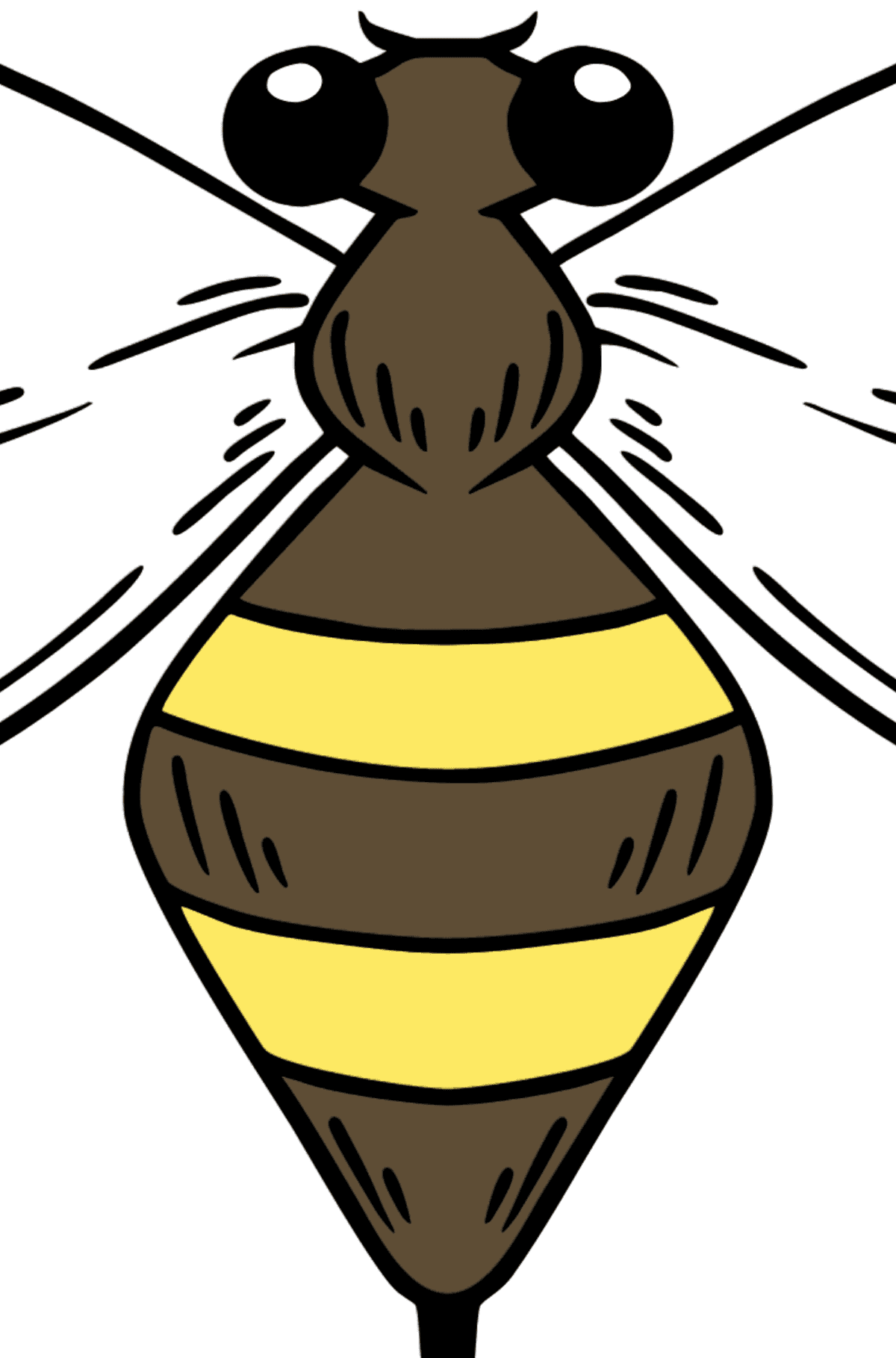 Wasp coloring page - Coloring by Geometric Shapes for Kids