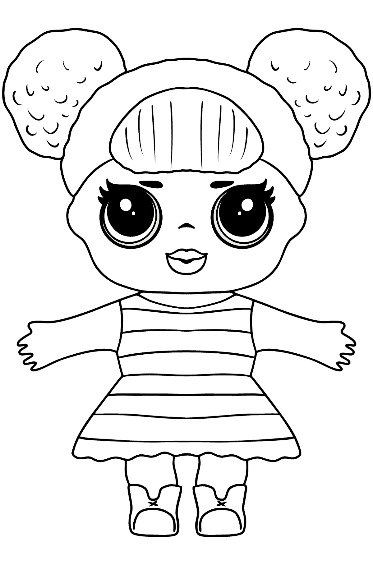 L.O.L. Surprise Doll Queen Bee - Coloring Pages for Kids