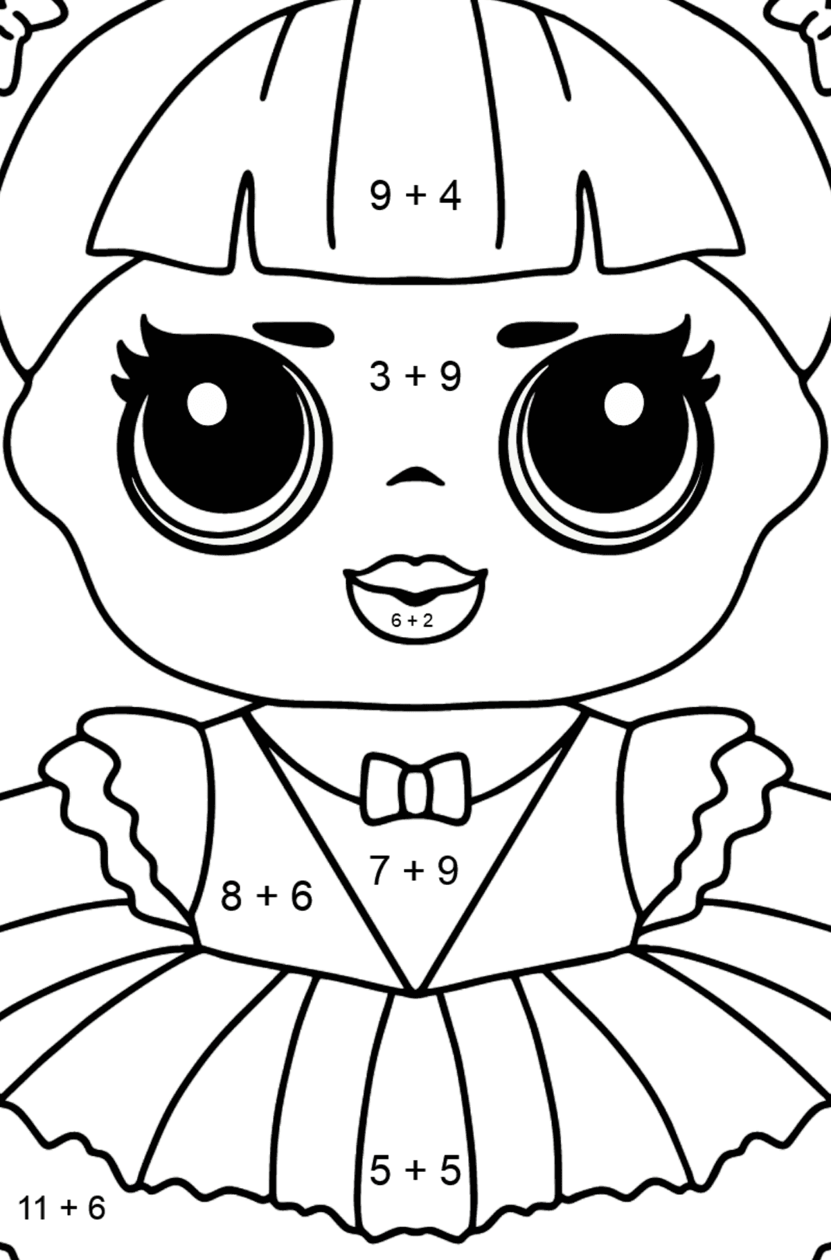 L.O.L. Surprise Doll Center Stage - Math Coloring - Addition for Kids