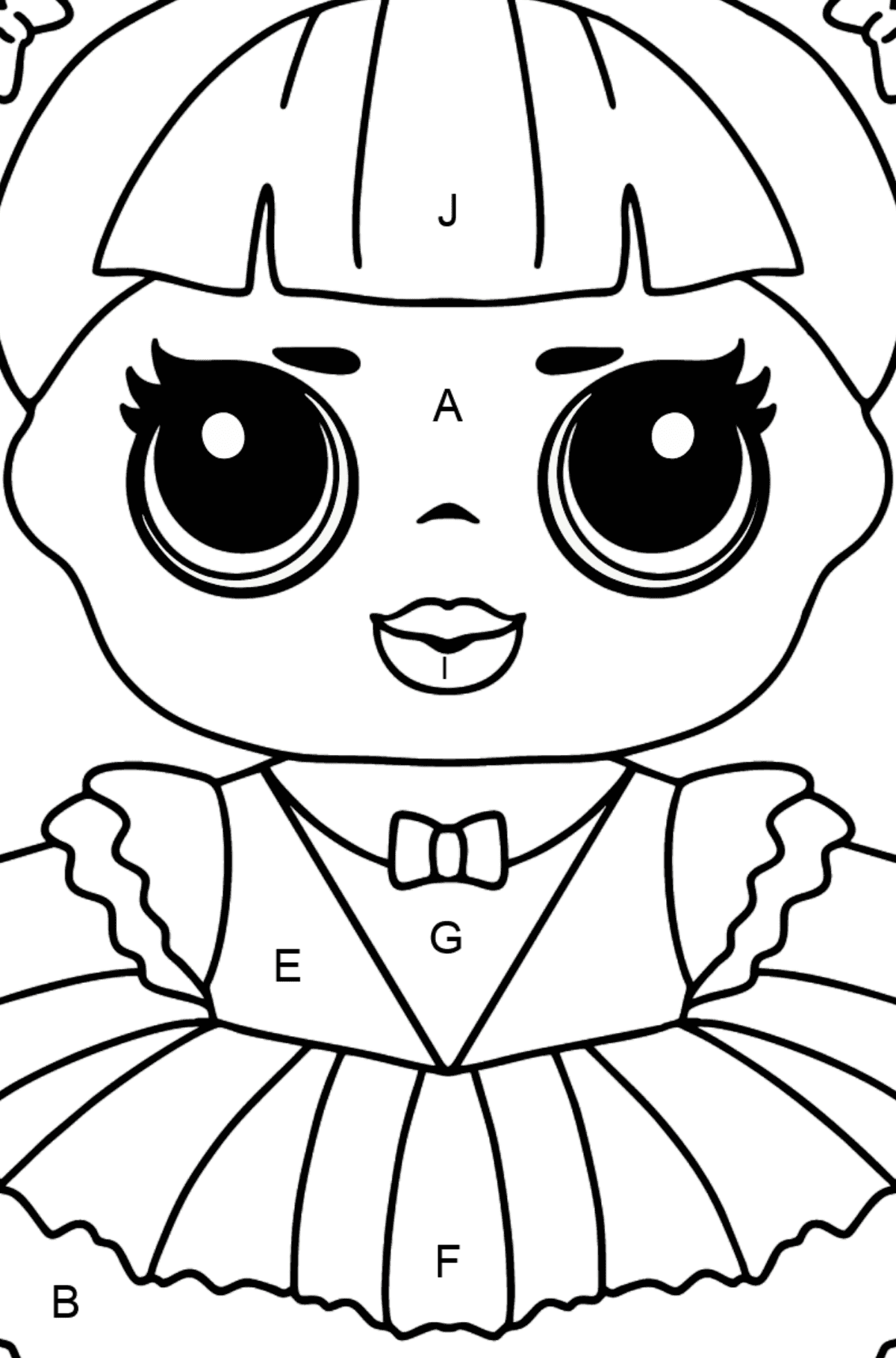 L.O.L. Surprise Doll Center Stage - Coloring by Letters for Kids