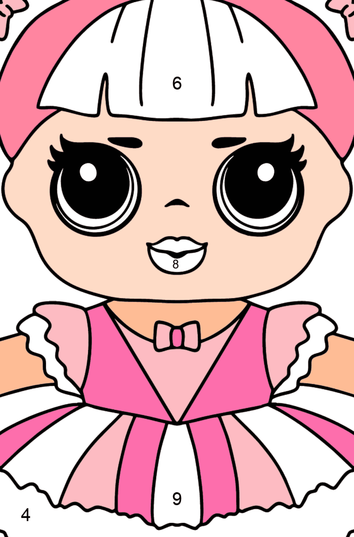 L.O.L. Surprise Doll Center Stage - Coloring by Numbers for Kids