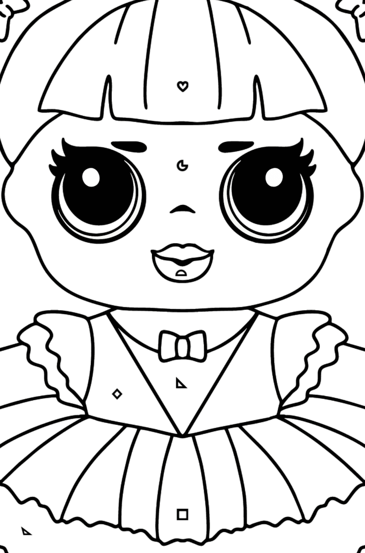 L.O.L. Surprise Doll Center Stage - Coloring by Geometric Shapes for Kids