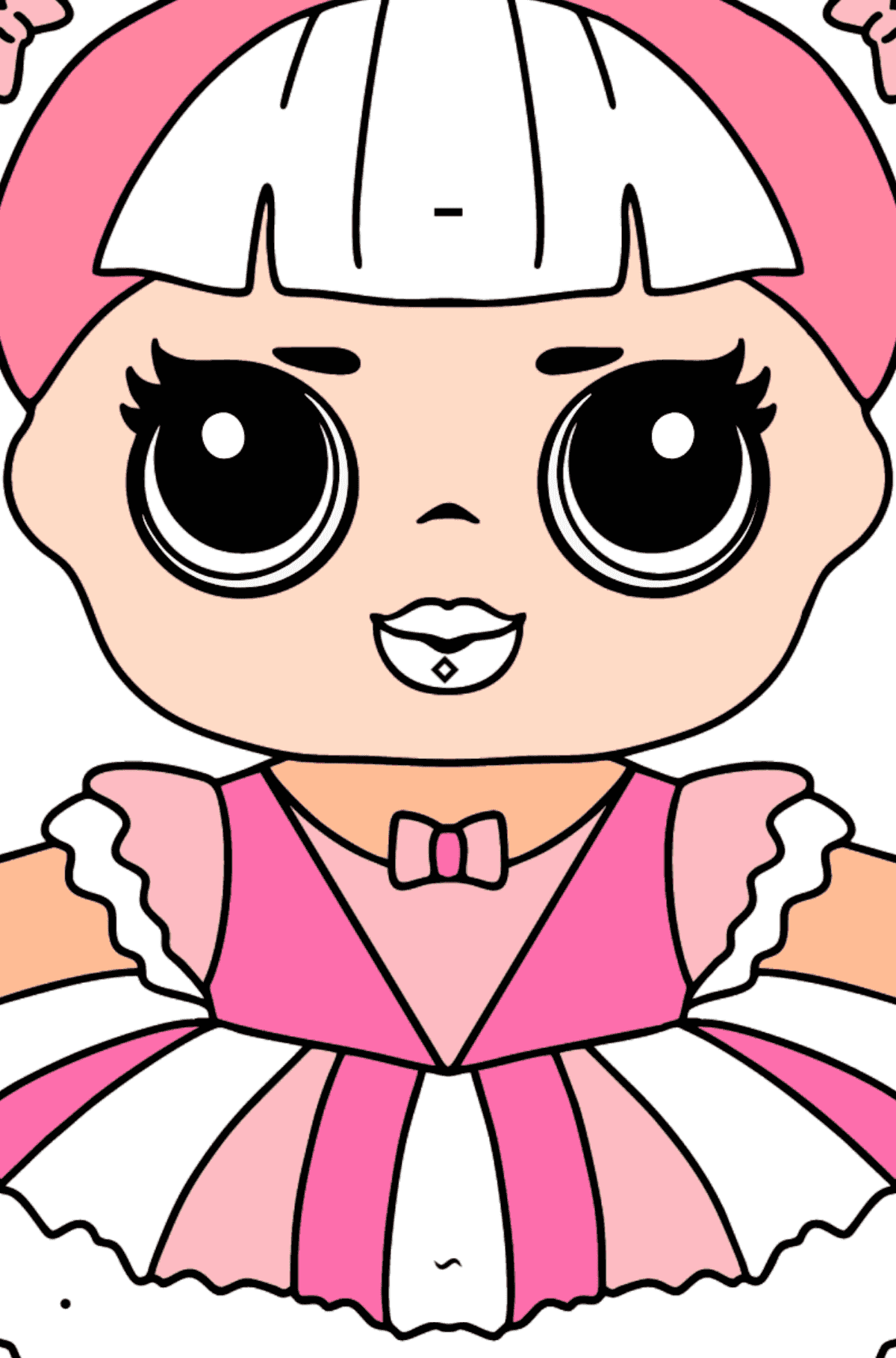 L.O.L. Surprise Doll Center Stage - Coloring by Symbols and Geometric Shapes for Kids