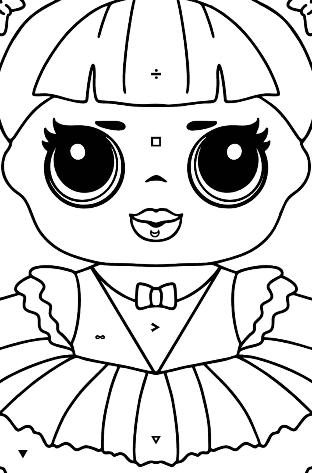 L.O.L. Surprise Doll Center Stage - Coloring by Symbols for Kids