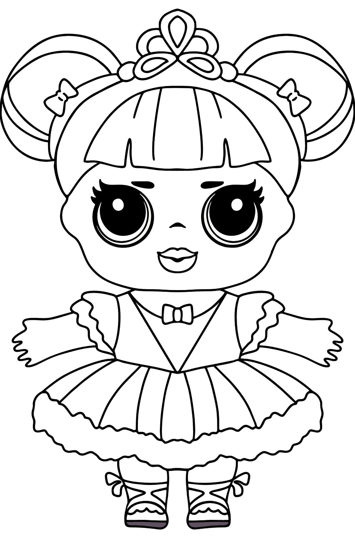 L.O.L. Surprise Doll Center Stage - Coloring Pages for Kids