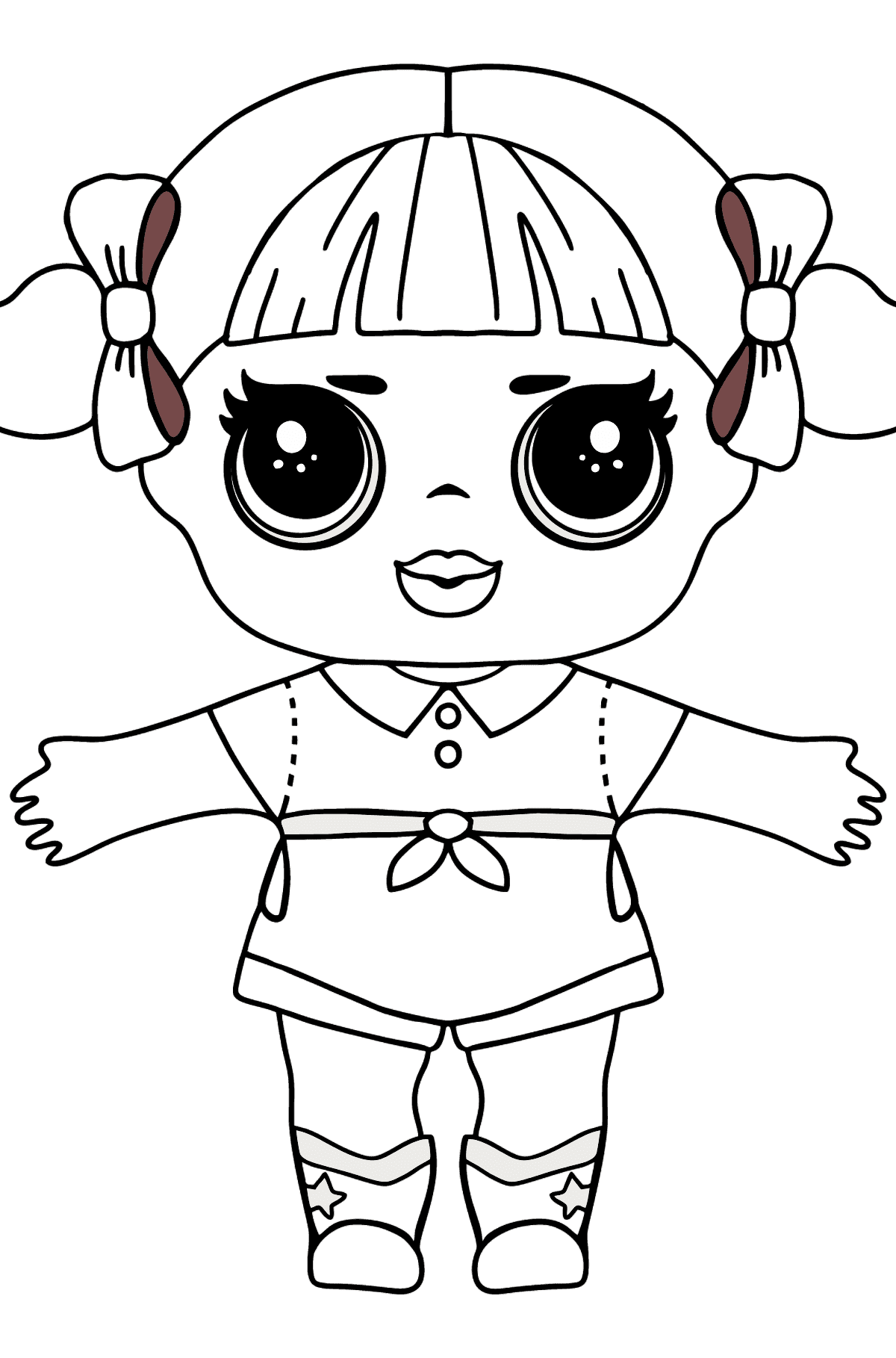 L.O.L. Surprise Doll Cheer Captain - Coloring Pages for Kids
