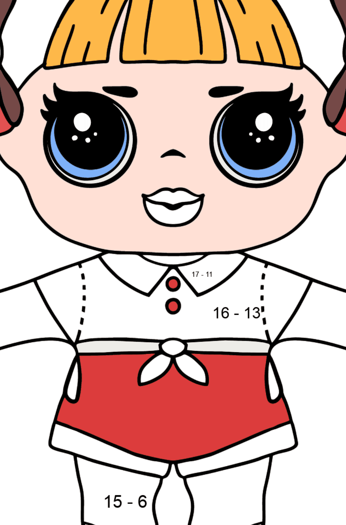 L.O.L. Surprise Doll Cheer Captain - Math Coloring - Subtraction for Kids