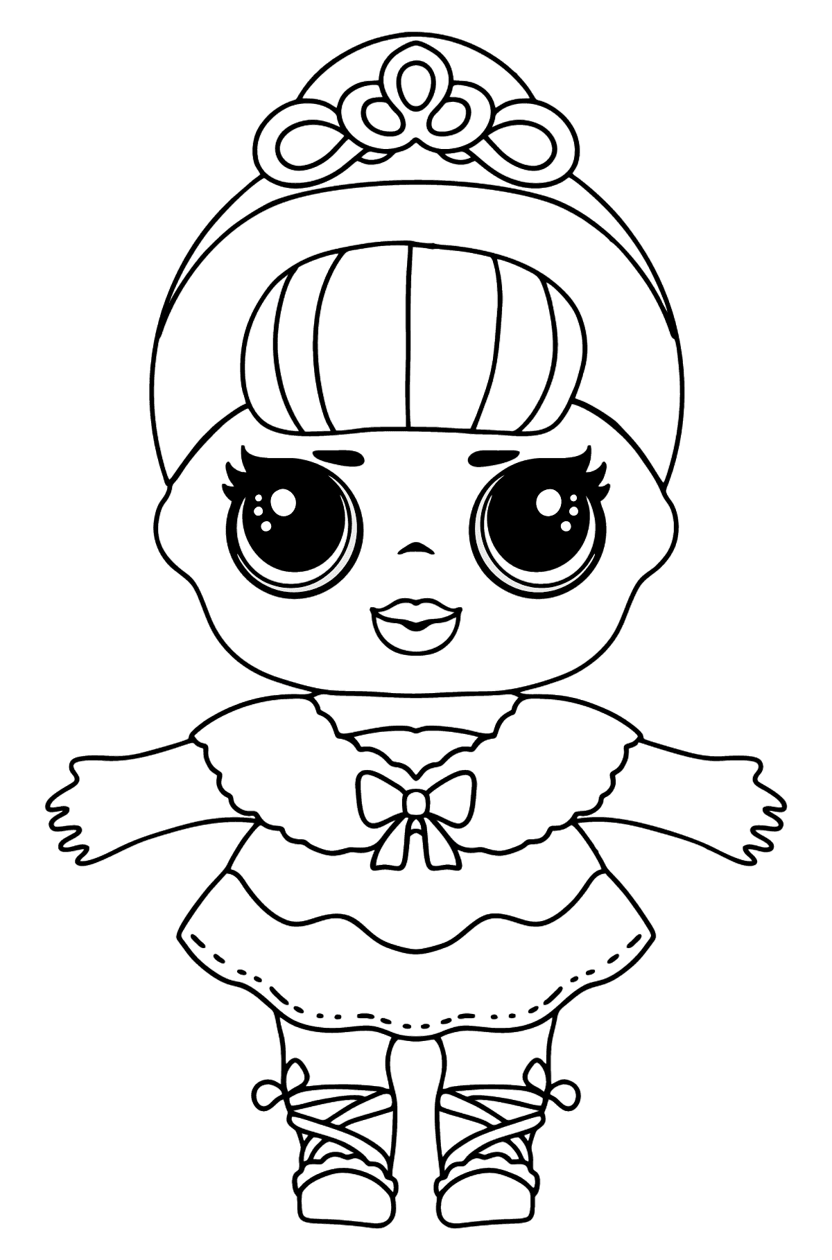L.O.L. Surprise Doll Crystal Queen - Coloring Pages for Kids