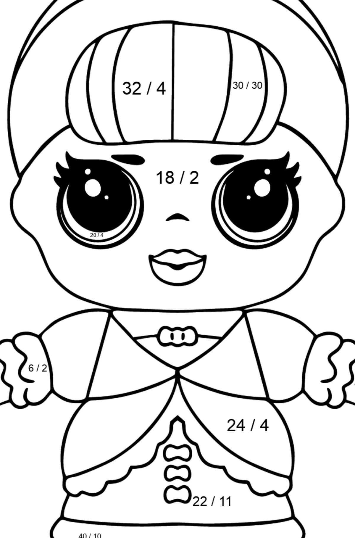 L.O.L. Surprise Doll Fancy - Math Coloring - Division for Kids