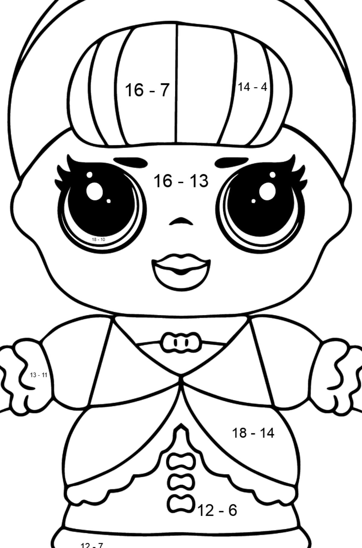 L.O.L. Surprise Doll Fancy - Math Coloring - Subtraction for Kids