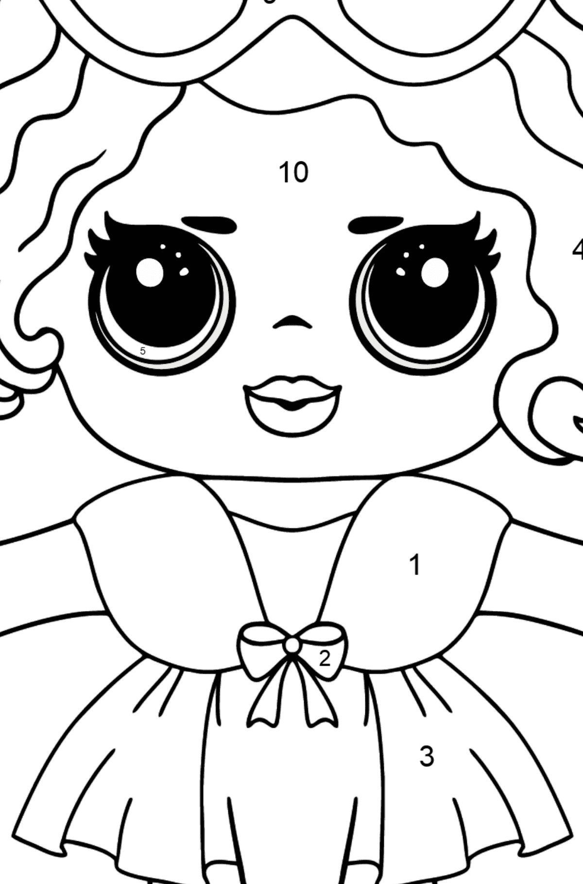 L.O.L. Surprise Doll Leading Baby - Coloring by Numbers for Kids