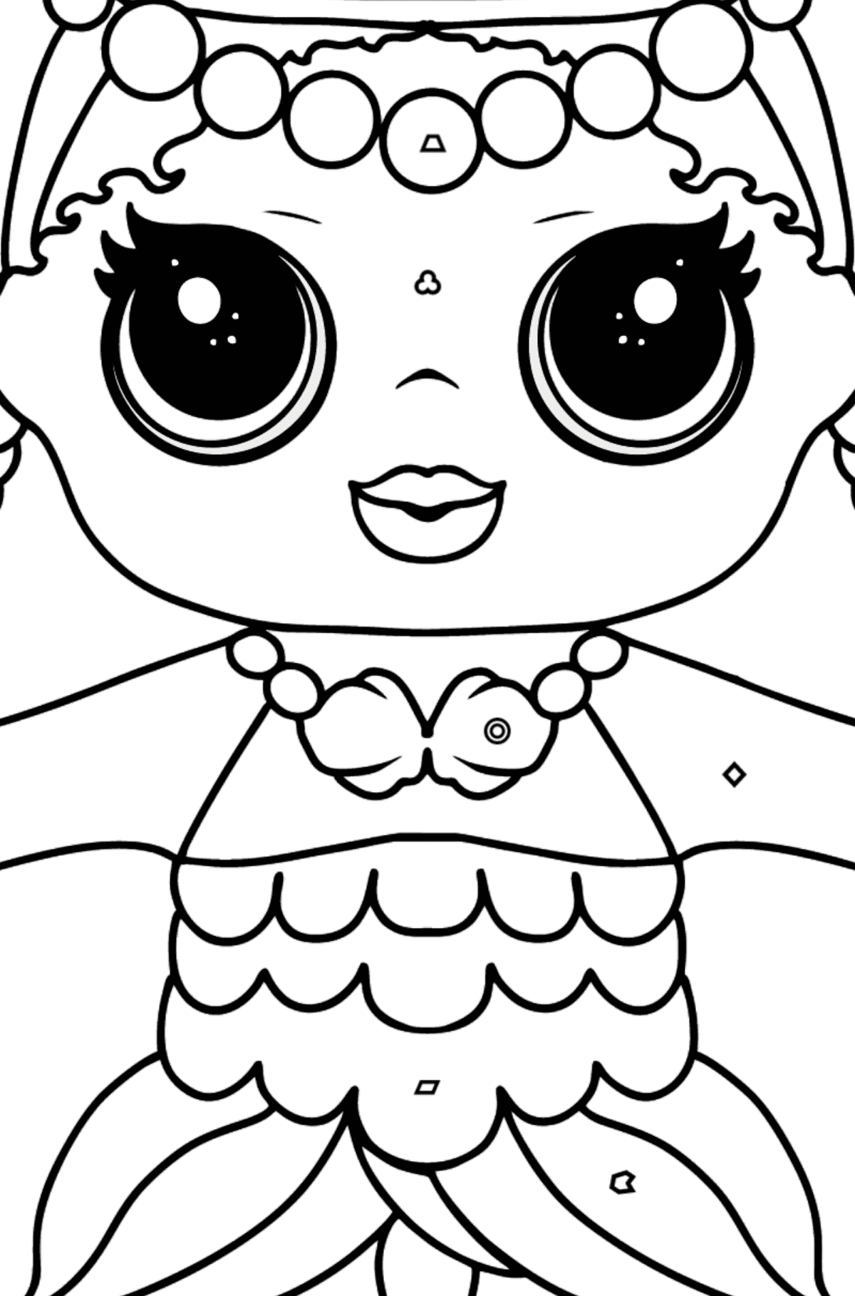 L.O.L. Surprise Doll Merbaby - Coloring by Geometric Shapes for Kids