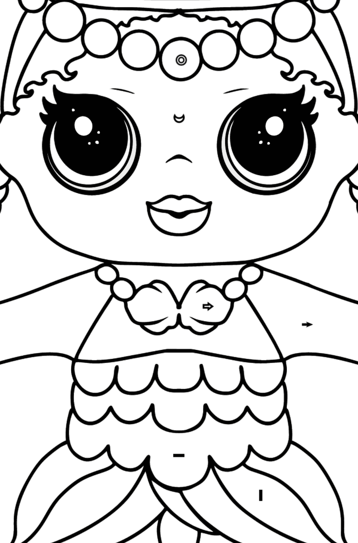 L.O.L. Surprise Doll Merbaby - Coloring by Symbols and Geometric Shapes for Kids