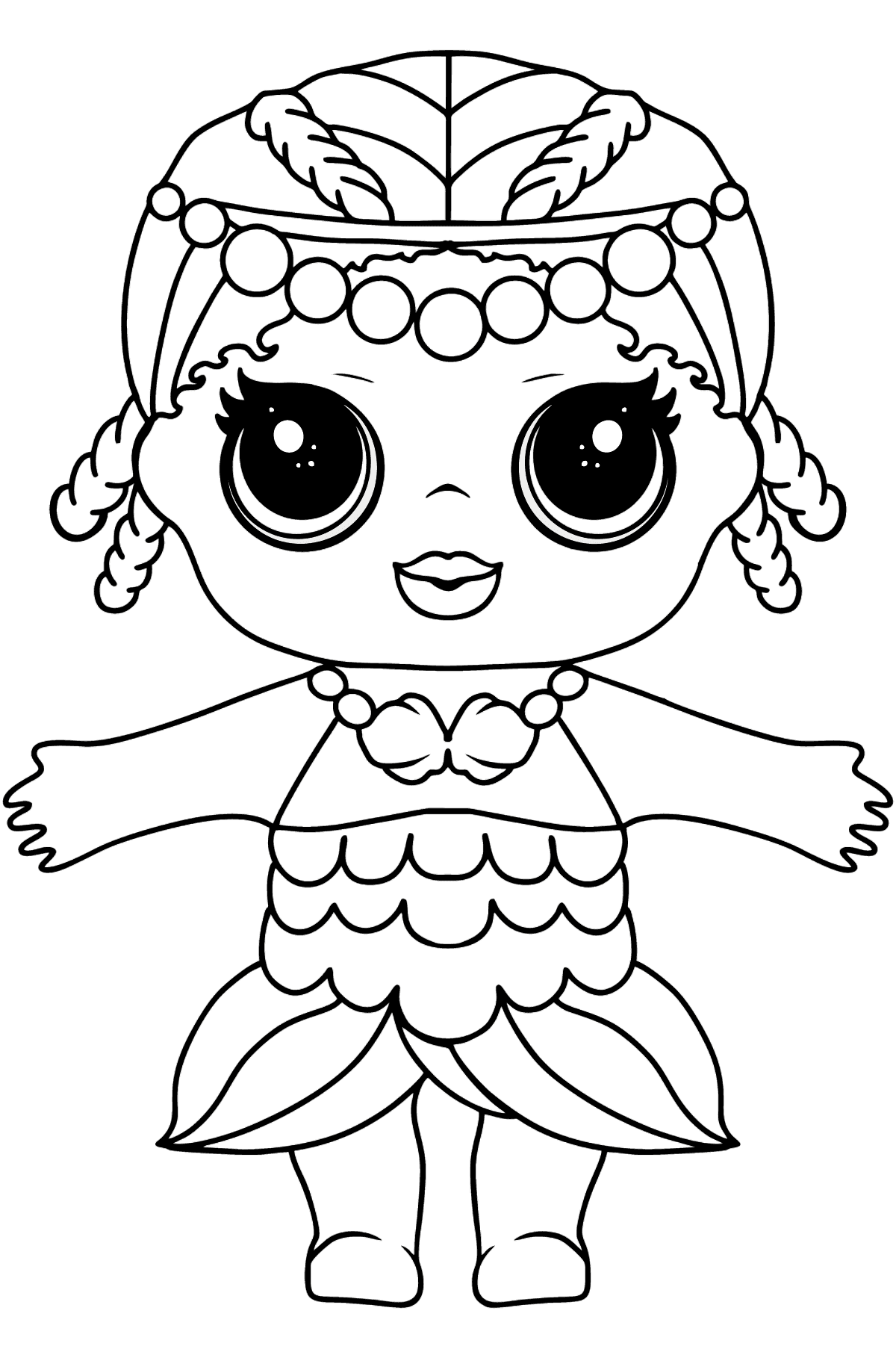 L.O.L. Surprise Doll Merbaby - Coloring Pages for Kids