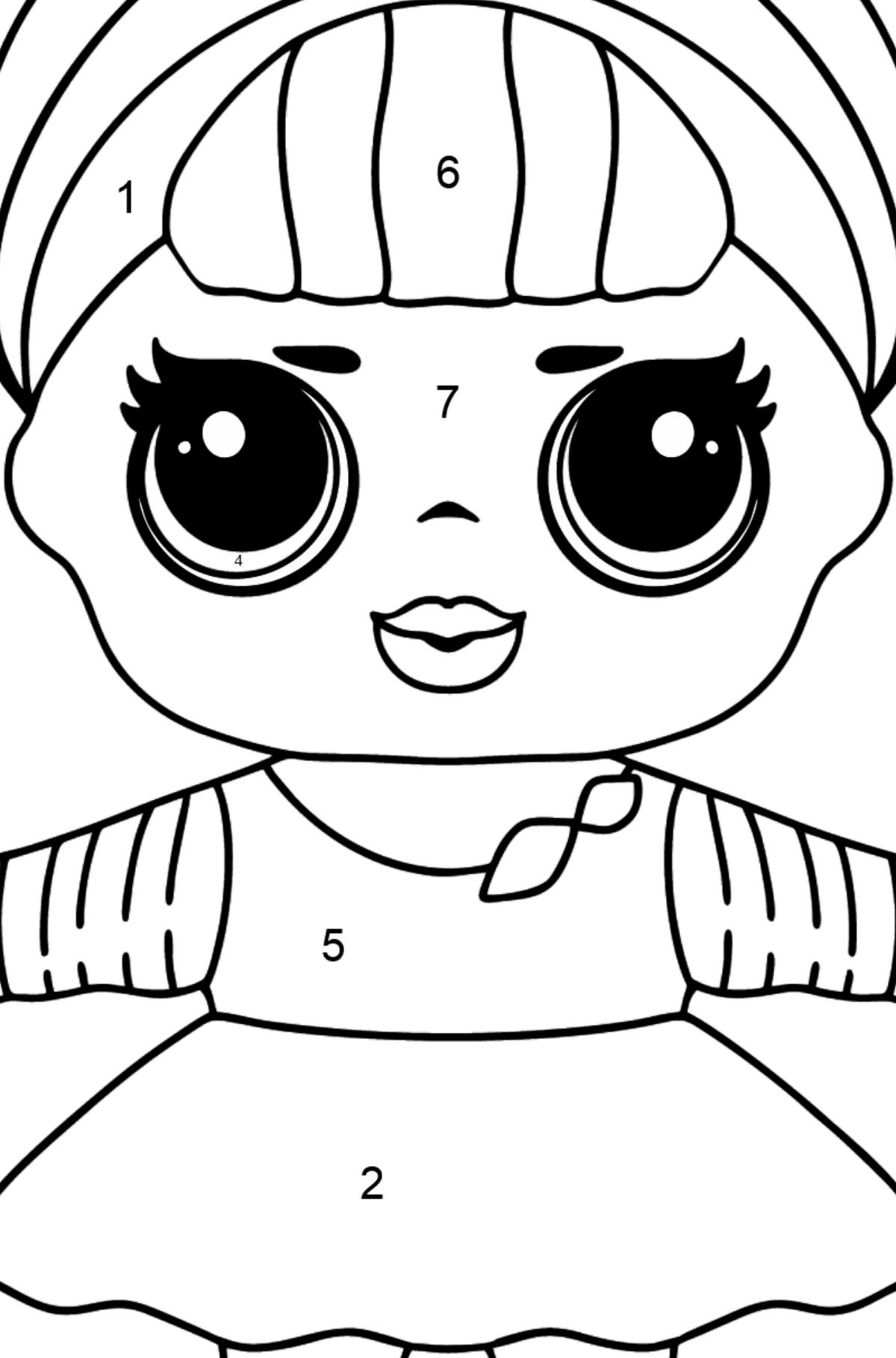 Desenho de Boneca L.O.L. Sis Swing para colorir - Colorir por Números para Crianças
