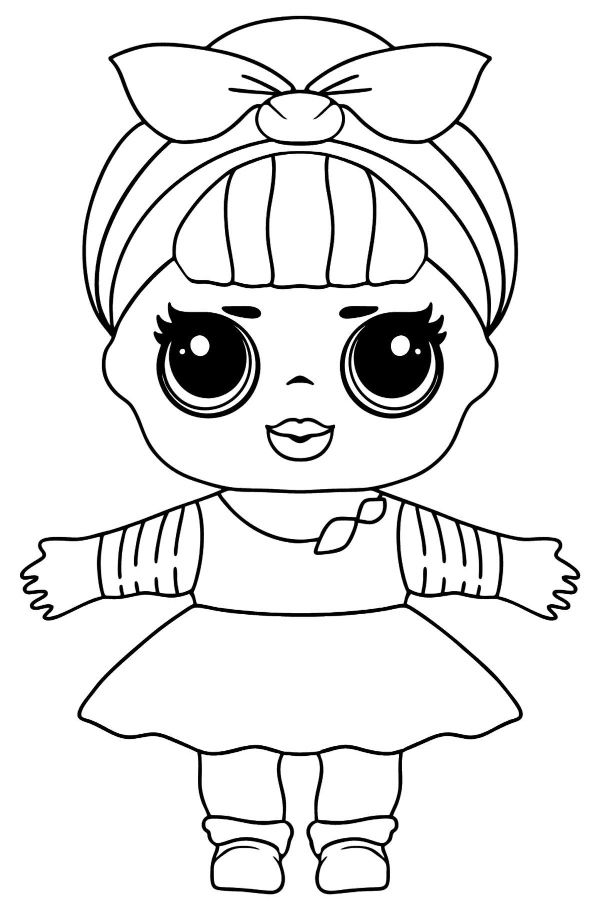 Desenho de Boneca L.O.L. Sis Swing para colorir - Imagens para Colorir para Crianças