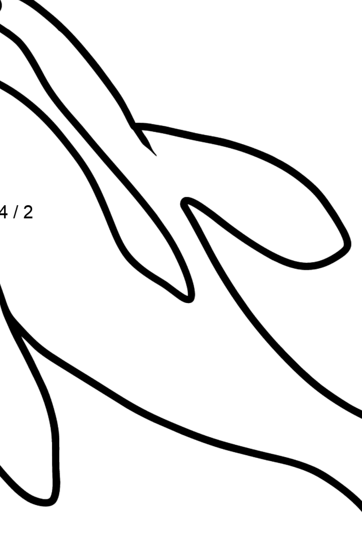 Dolphin coloring page - Math Coloring - Division for Kids