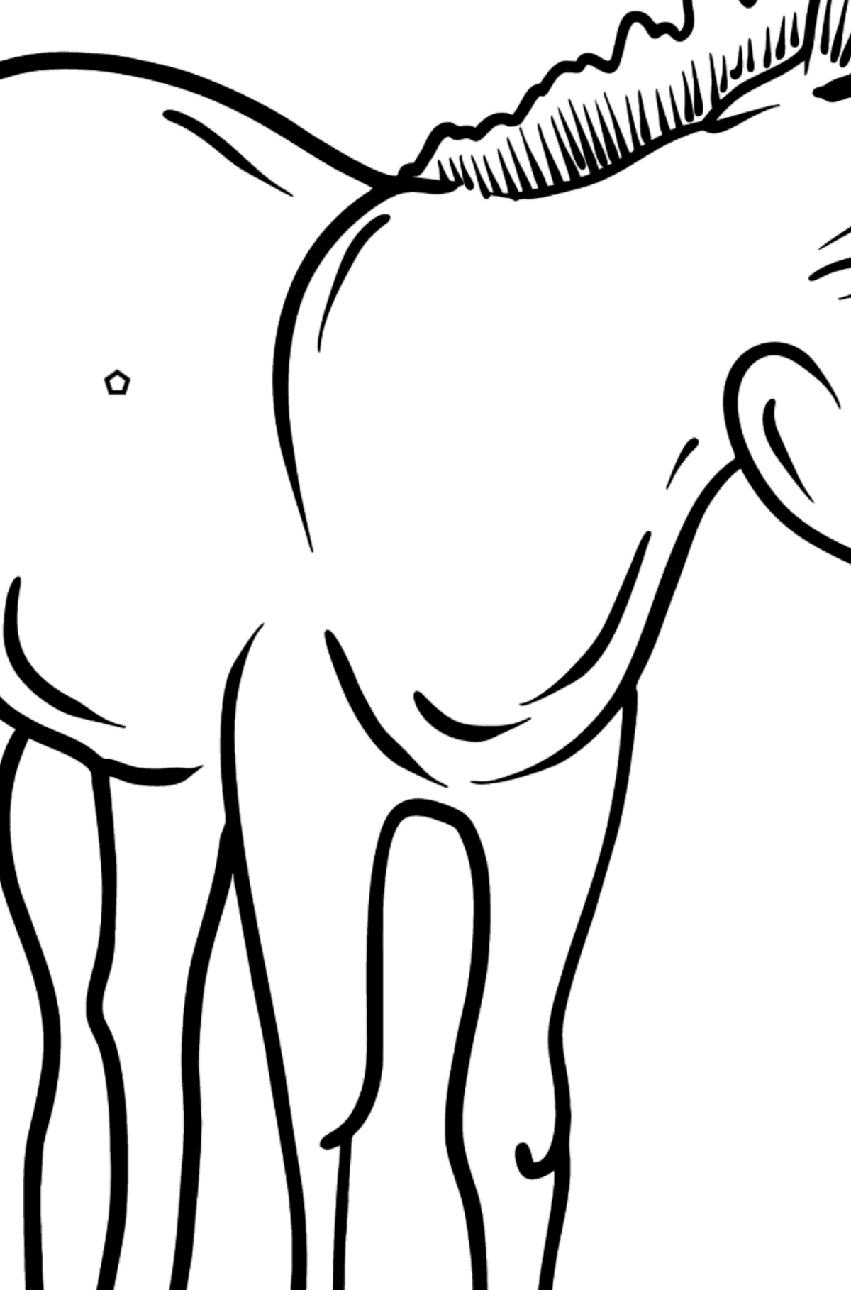 Donkey coloring page - Coloring by Geometric Shapes for Kids