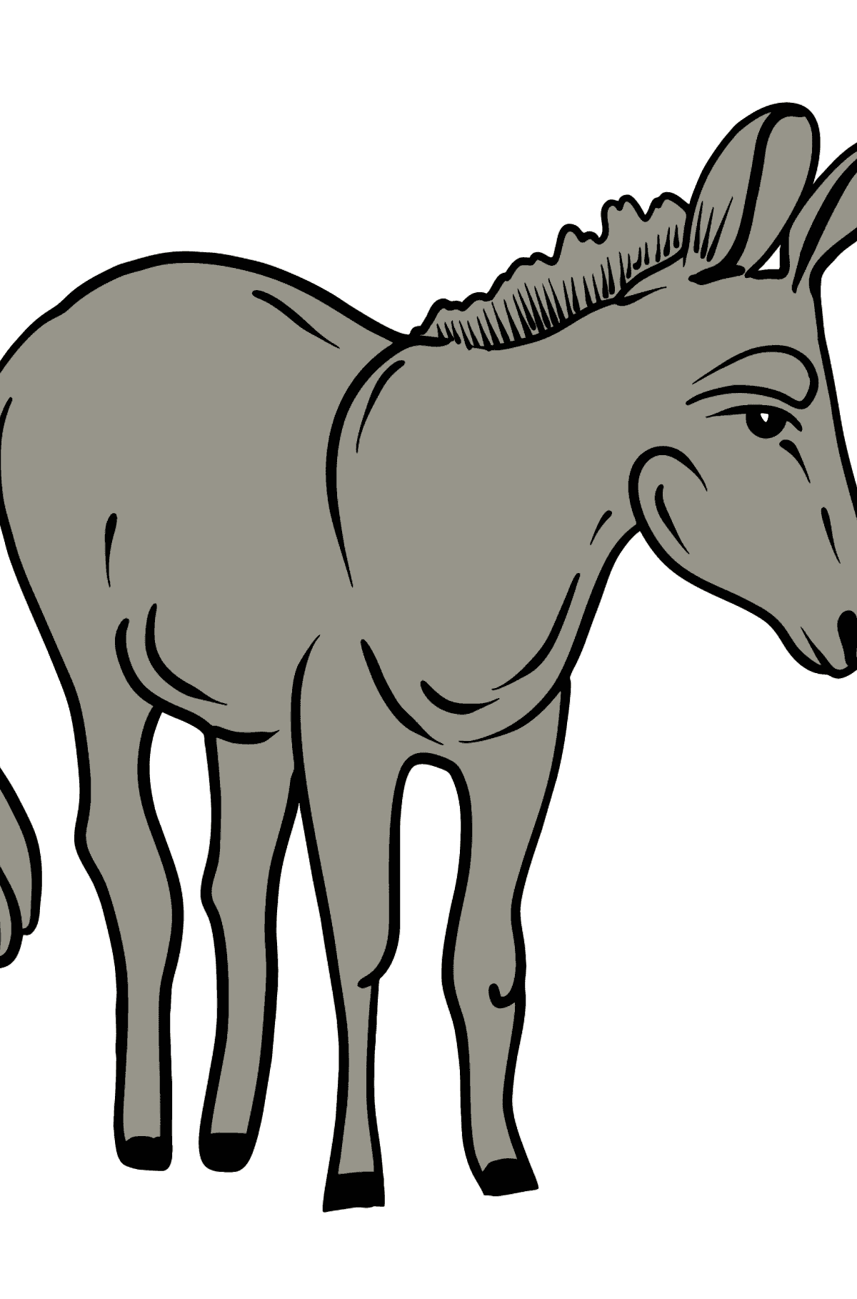 Donkey coloring page - Coloring Pages for Kids
