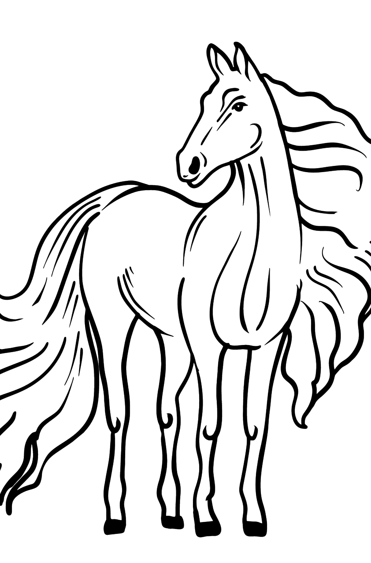 Horse coloring page - Coloring Pages for Kids
