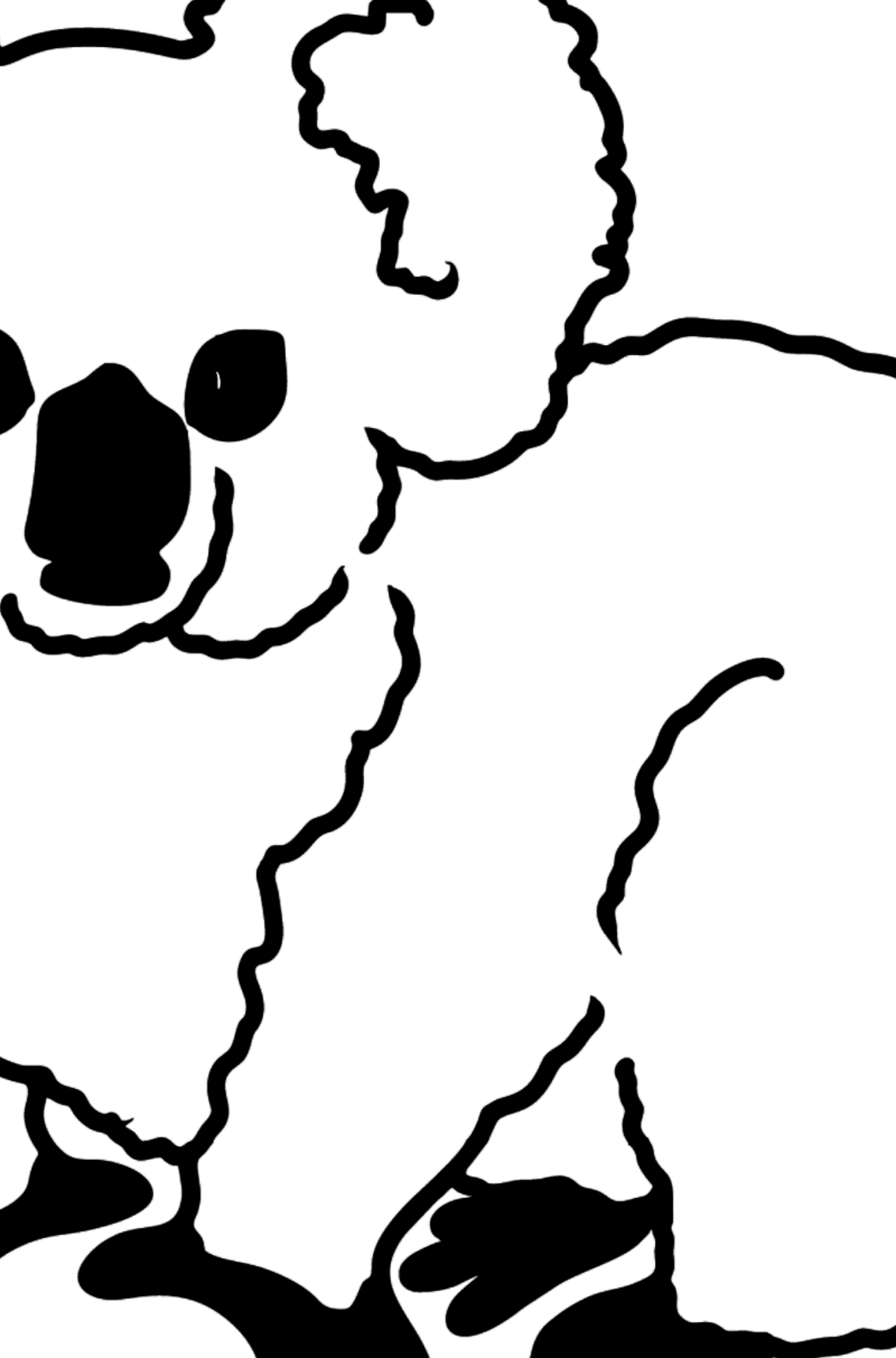 Koala coloring page - Coloring by Geometric Shapes for Kids