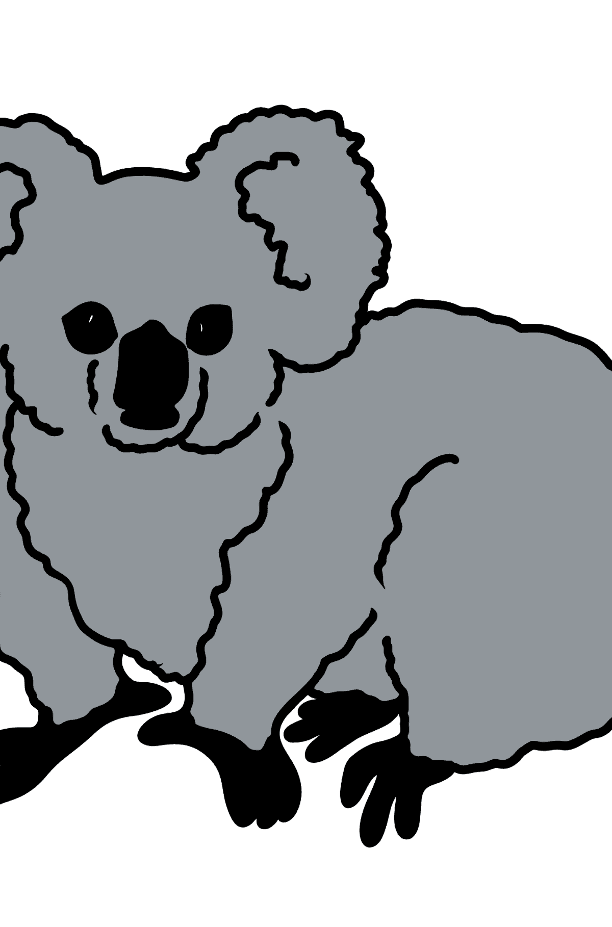 Koala coloring page - Coloring Pages for Kids