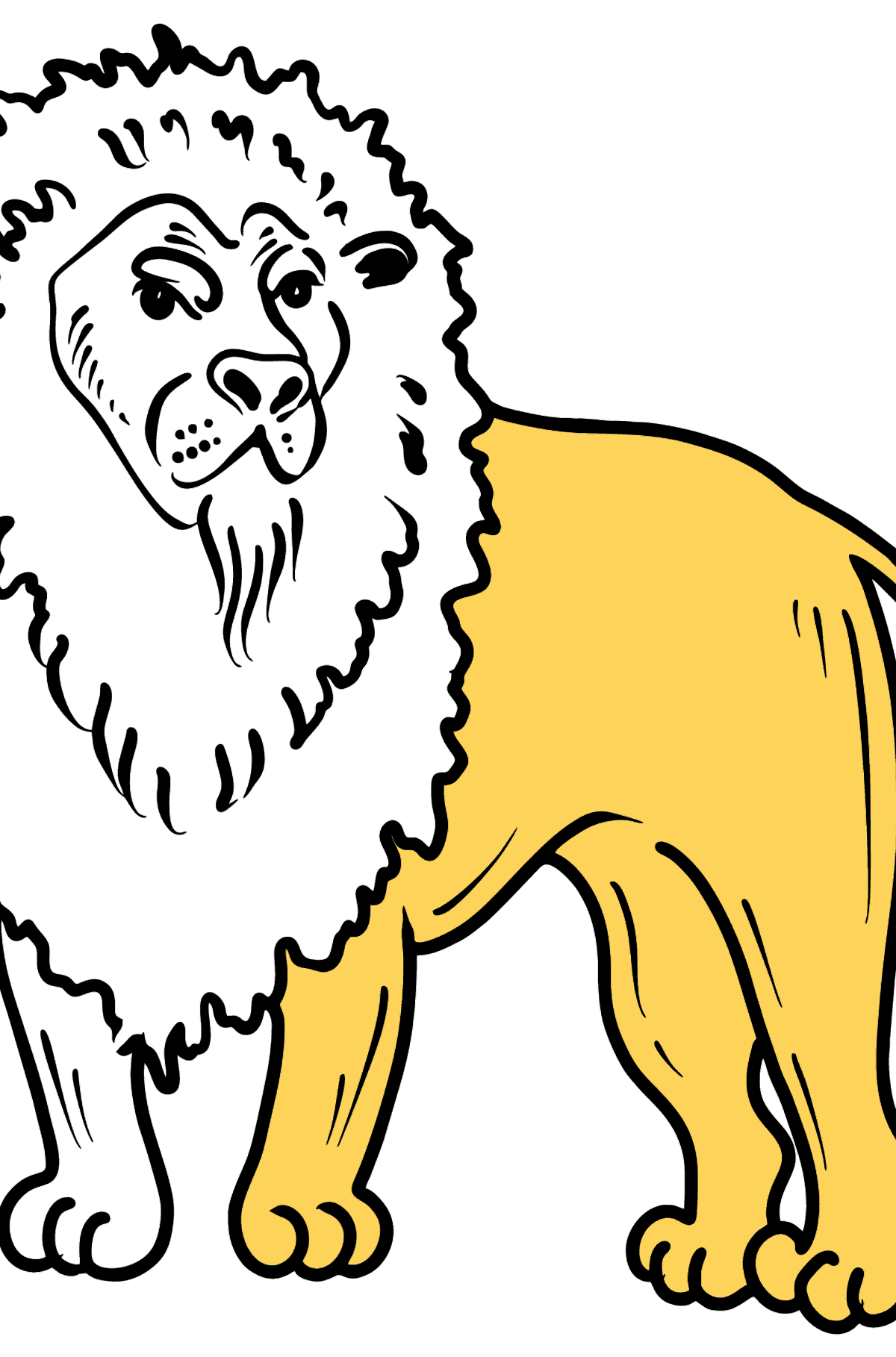 Lion coloring page - Coloring Pages for Kids
