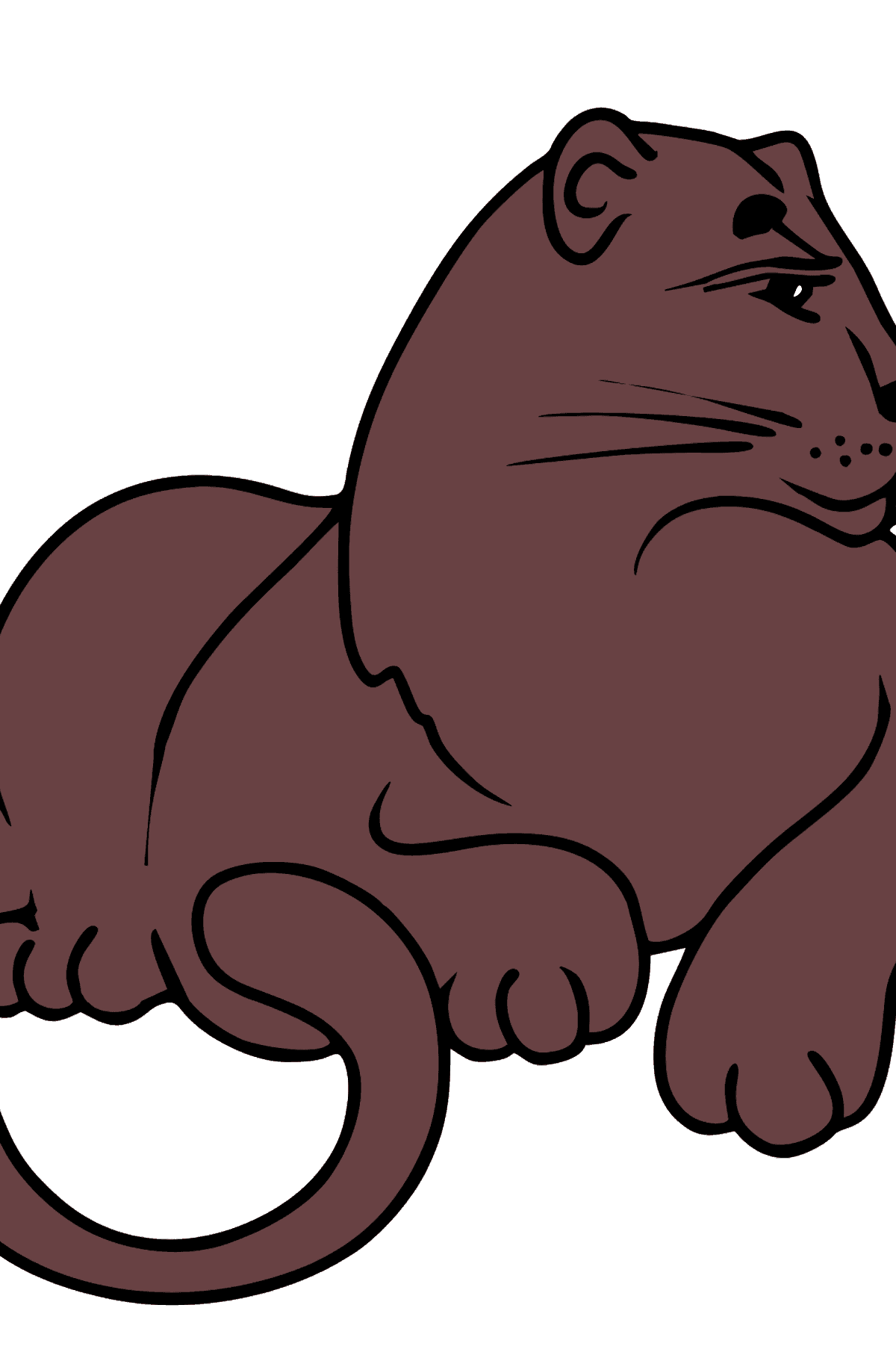Panther coloring page - Coloring Pages for Kids