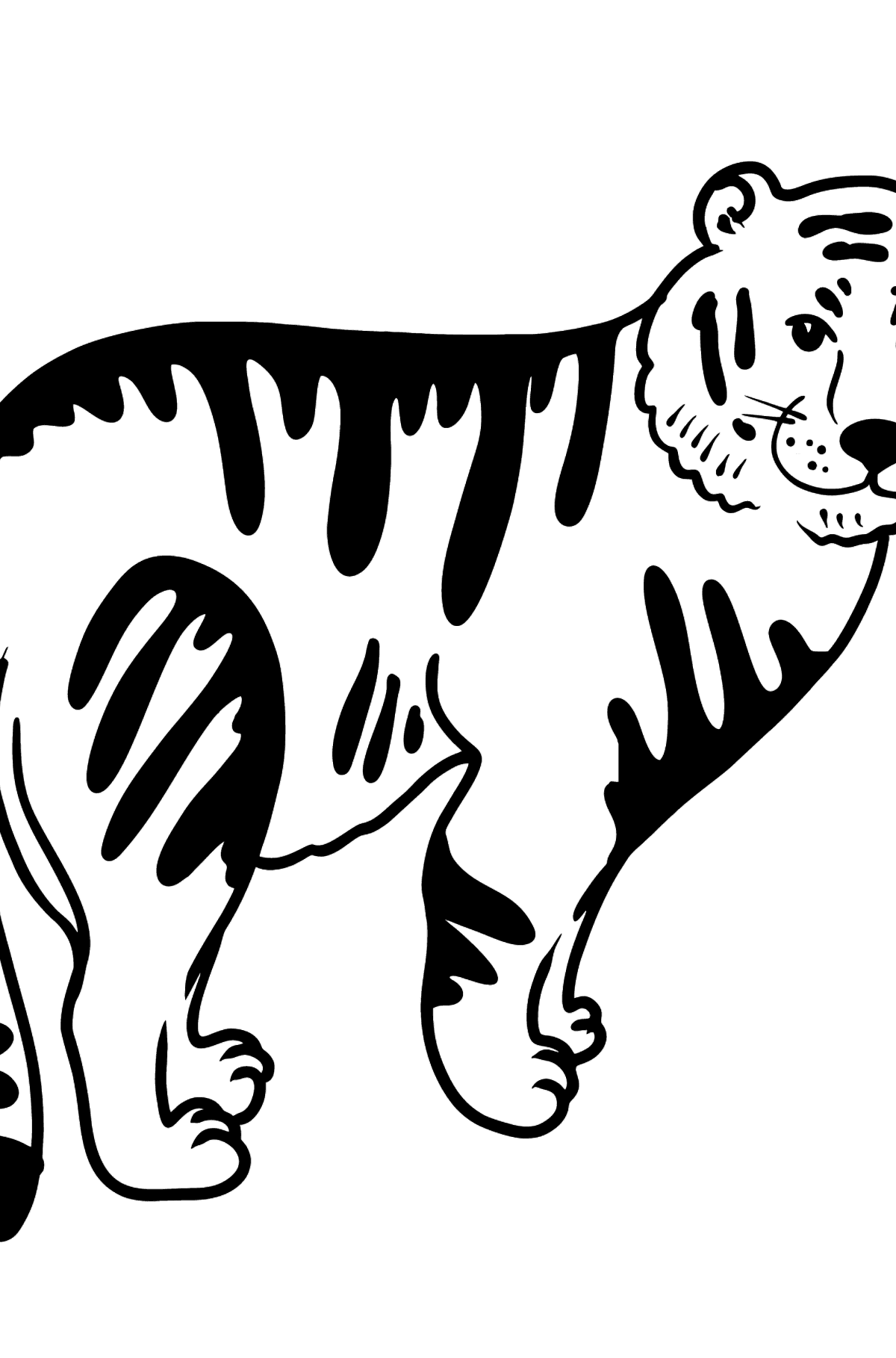 Tiger coloring page - Coloring Pages for Kids