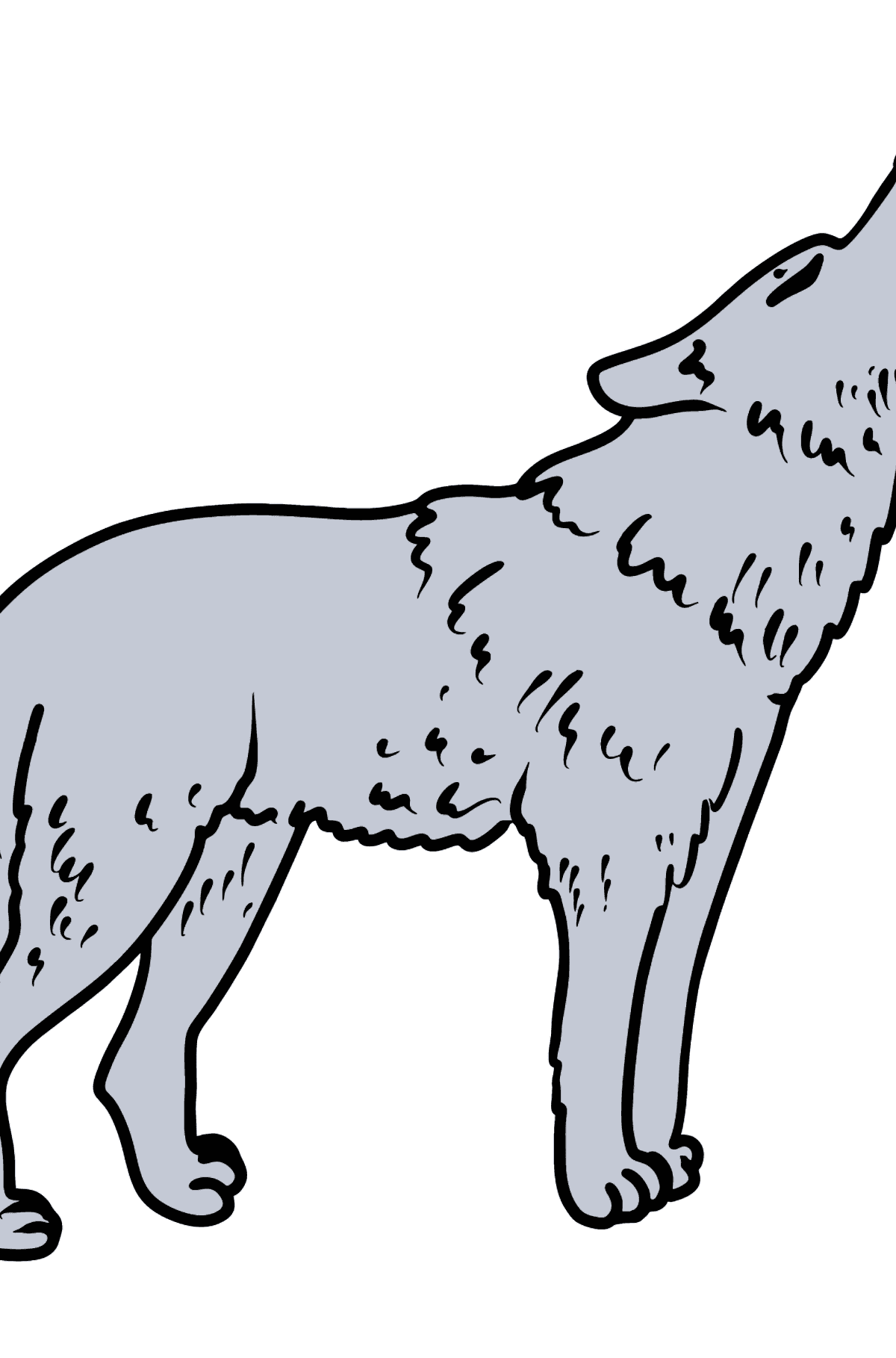 Wolf coloring page - Coloring Pages for Kids